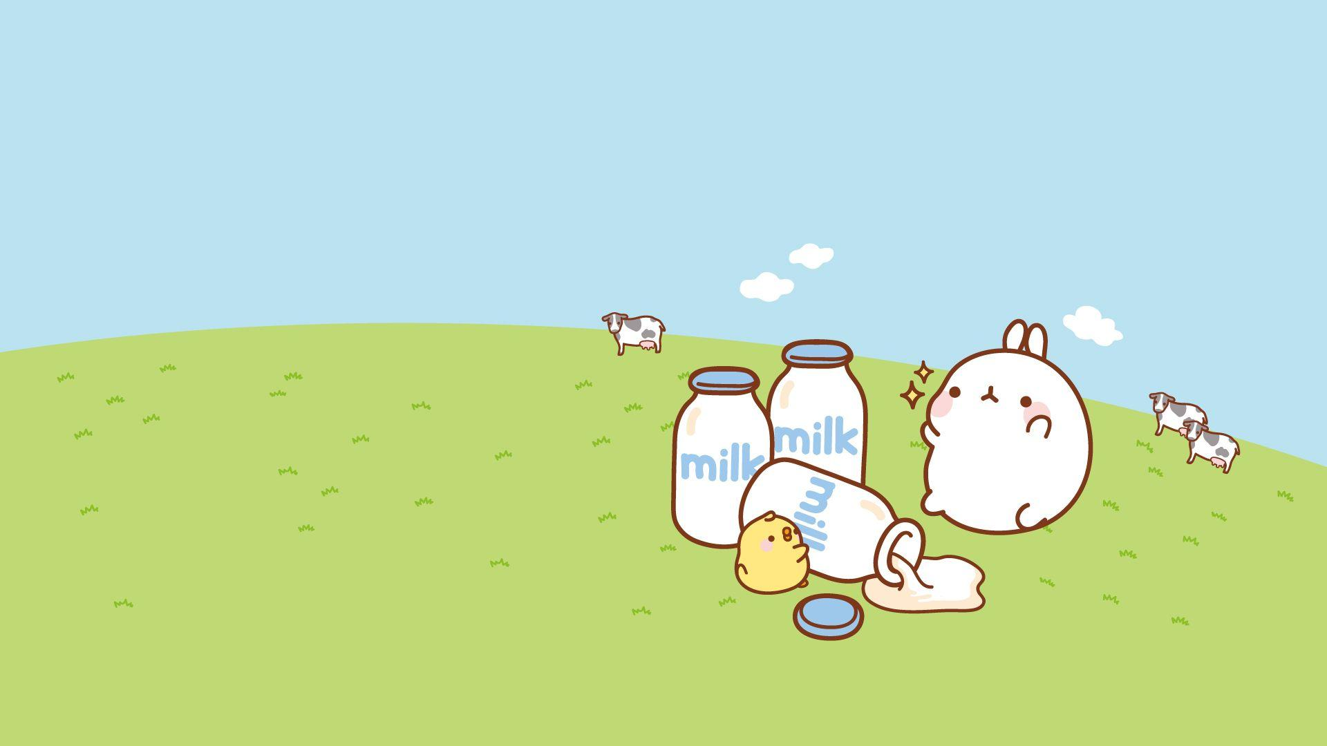 Wallpaper Molang by leyfzalley on DeviantArt
