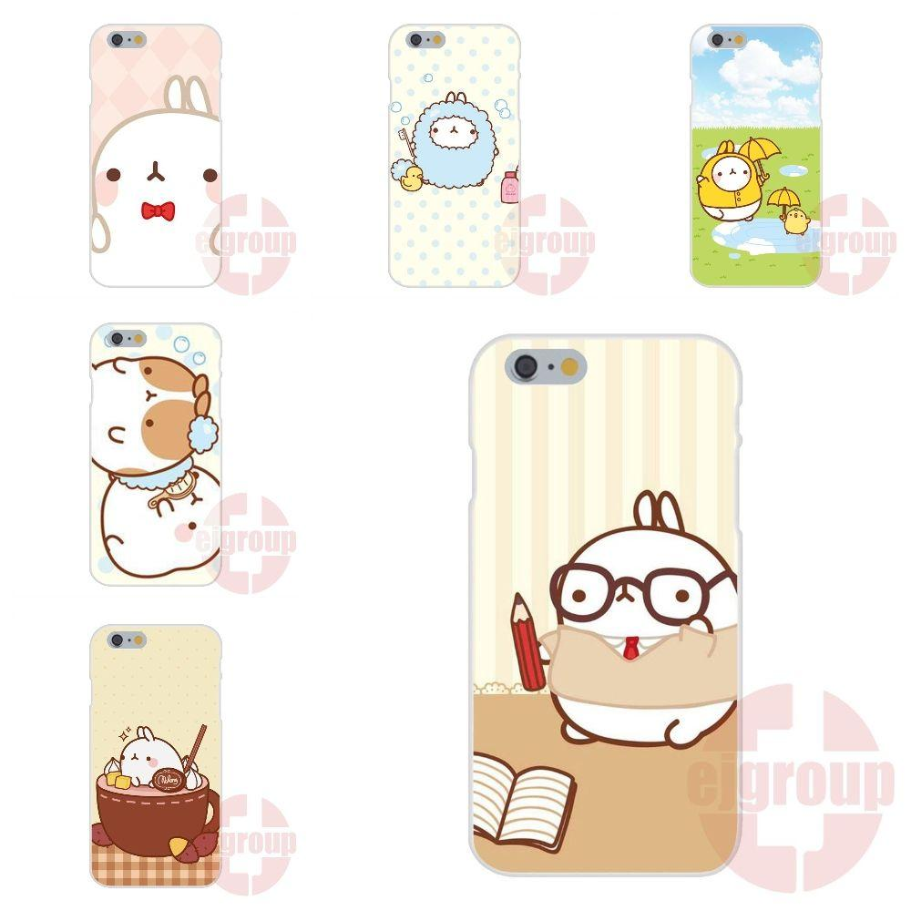 Soft TPU Silicon Protector Phone Cases Molang Kawaii Wallpapers ...