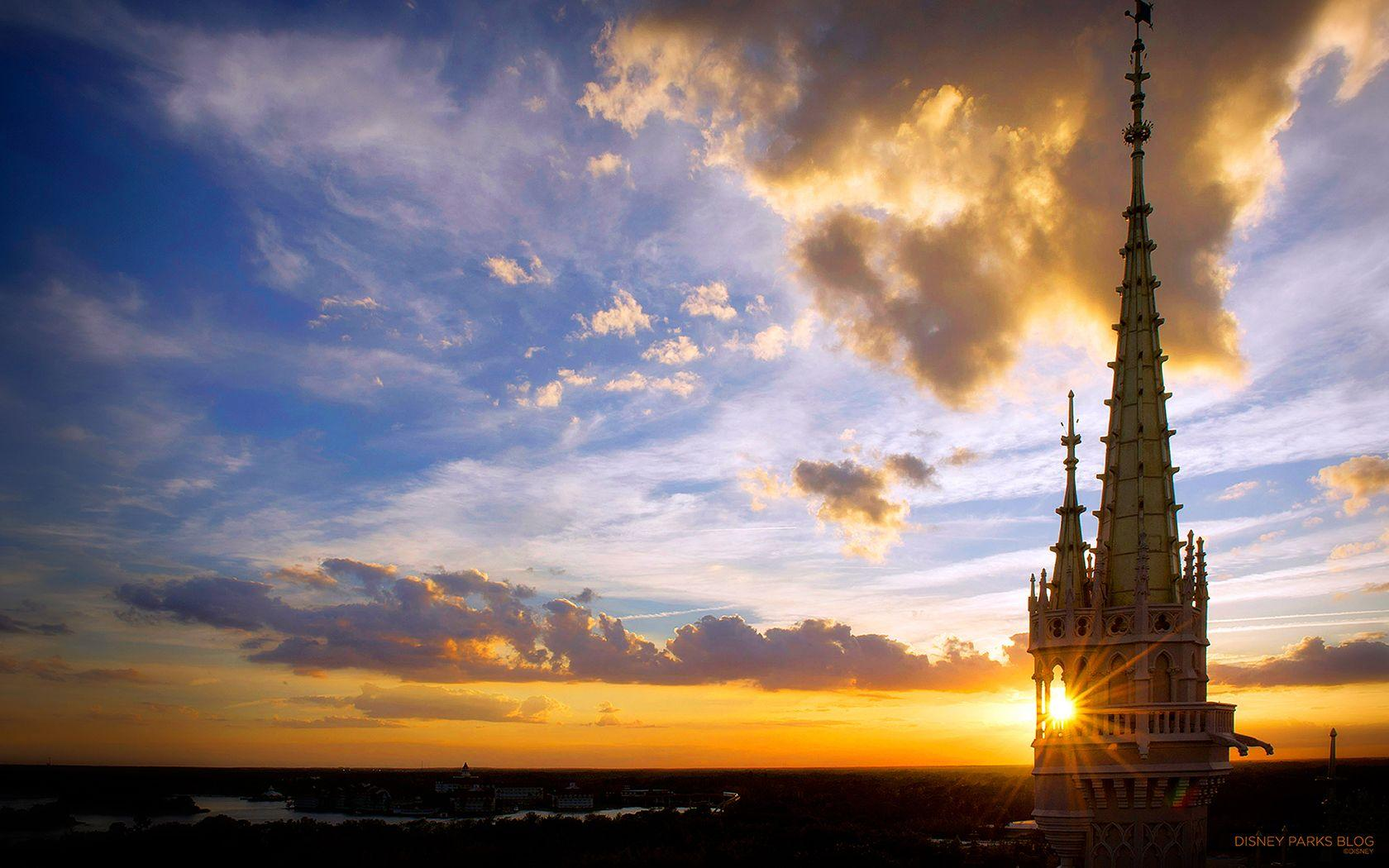 Wallpaper: Sunset at Walt Disney World Resort | Disney Parks Blog