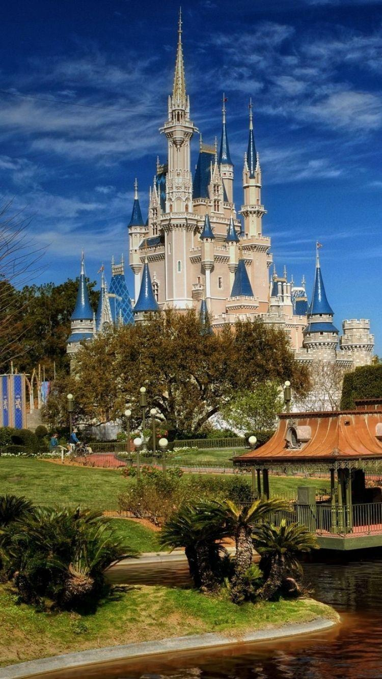 Download Wallpaper 750x1334 Walt disney world, coast, Building ...
