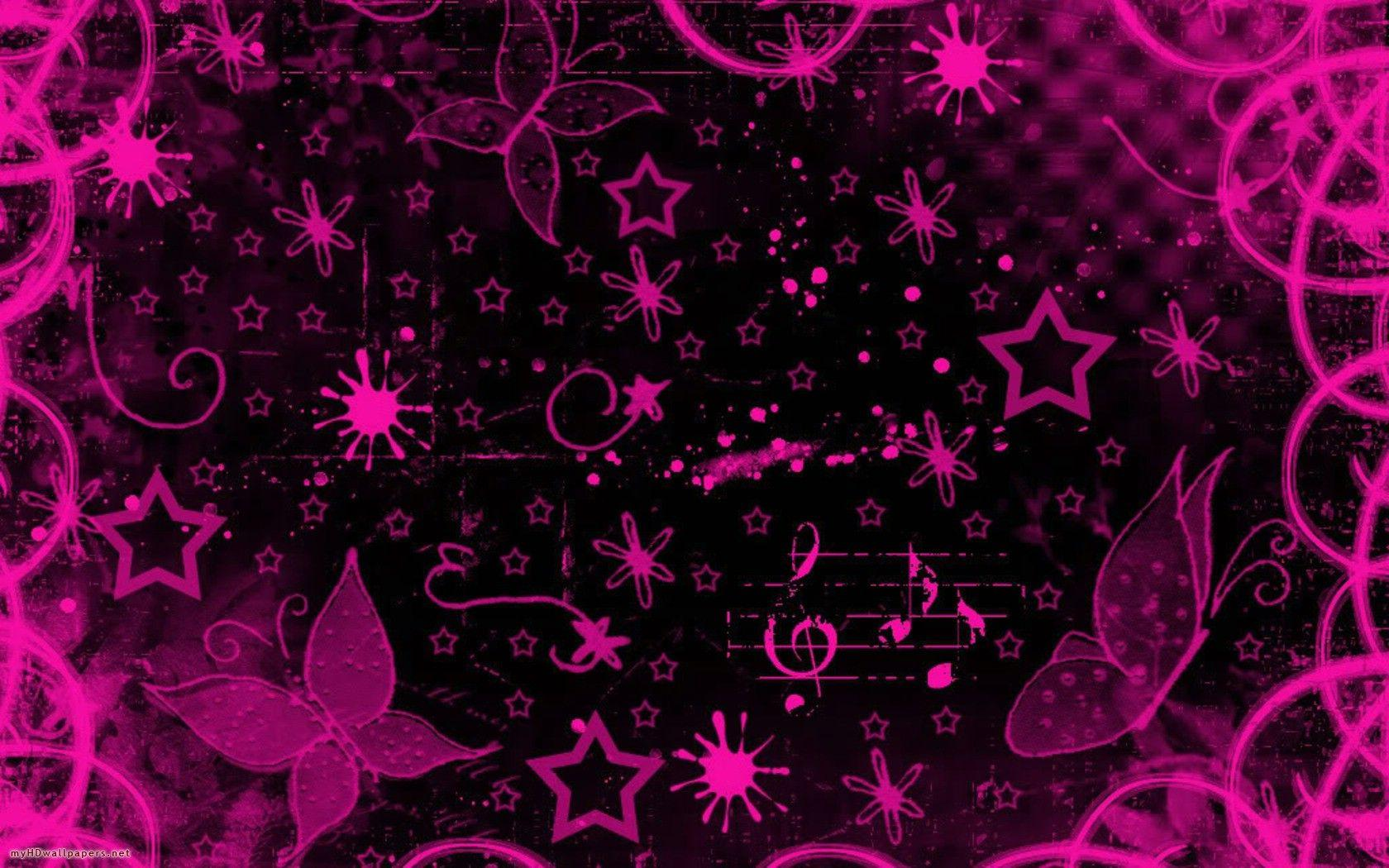 My HD Wallpapers » Blog Archive Pink black design - My HD Wallpapers