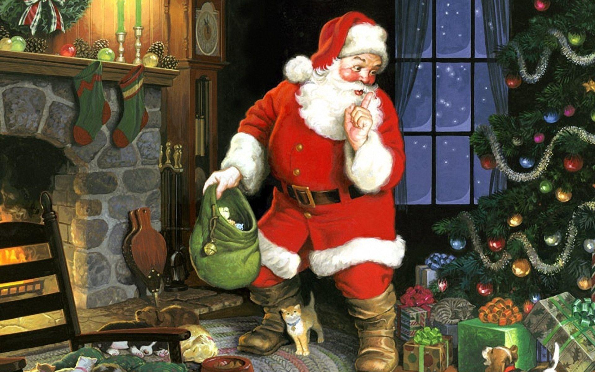 Christmas Santa Claus Wallpapers - Wallpaper Cave