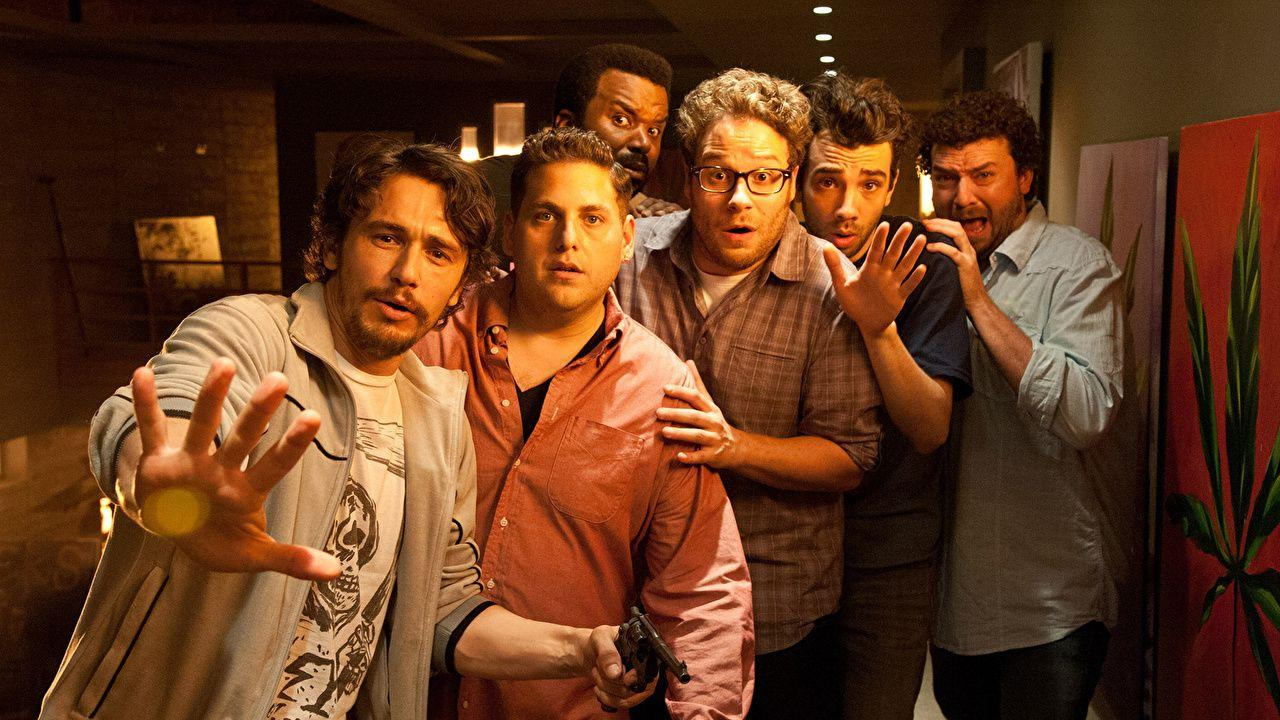 Wallpapers James Franco Man This is The end, Jonah Hill, Seth Rogen,