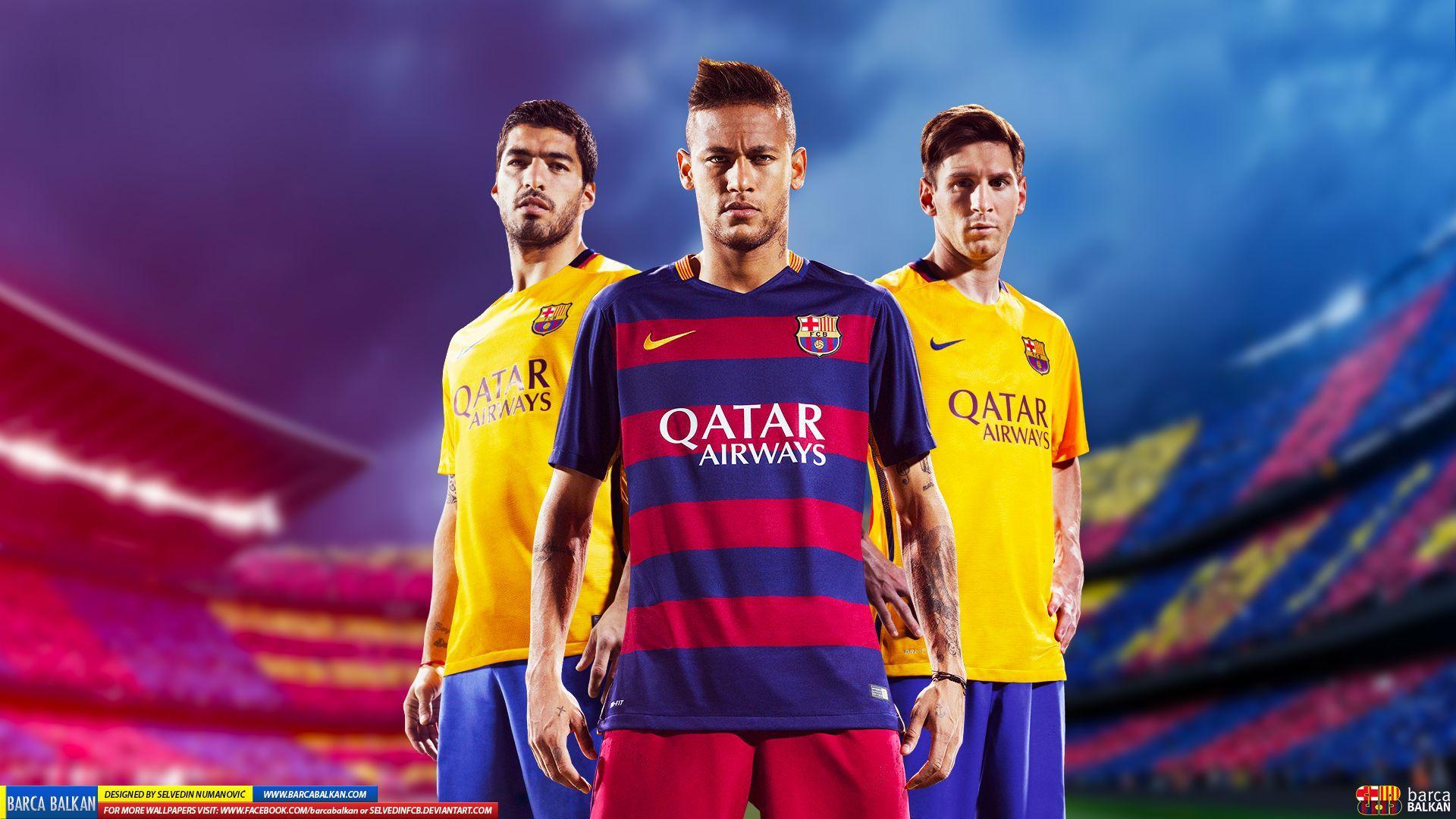 Wallpaper Messi Neymar Dan Suarez