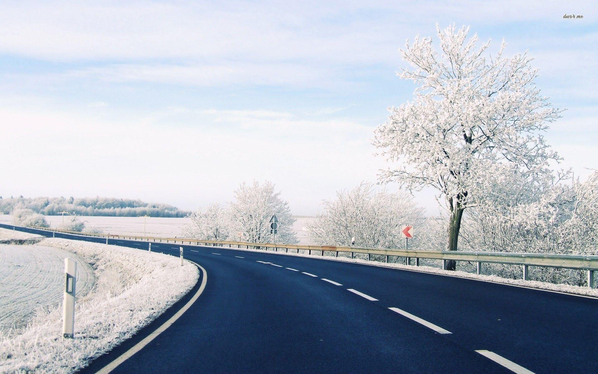 Winter Road Wallpaper 2017