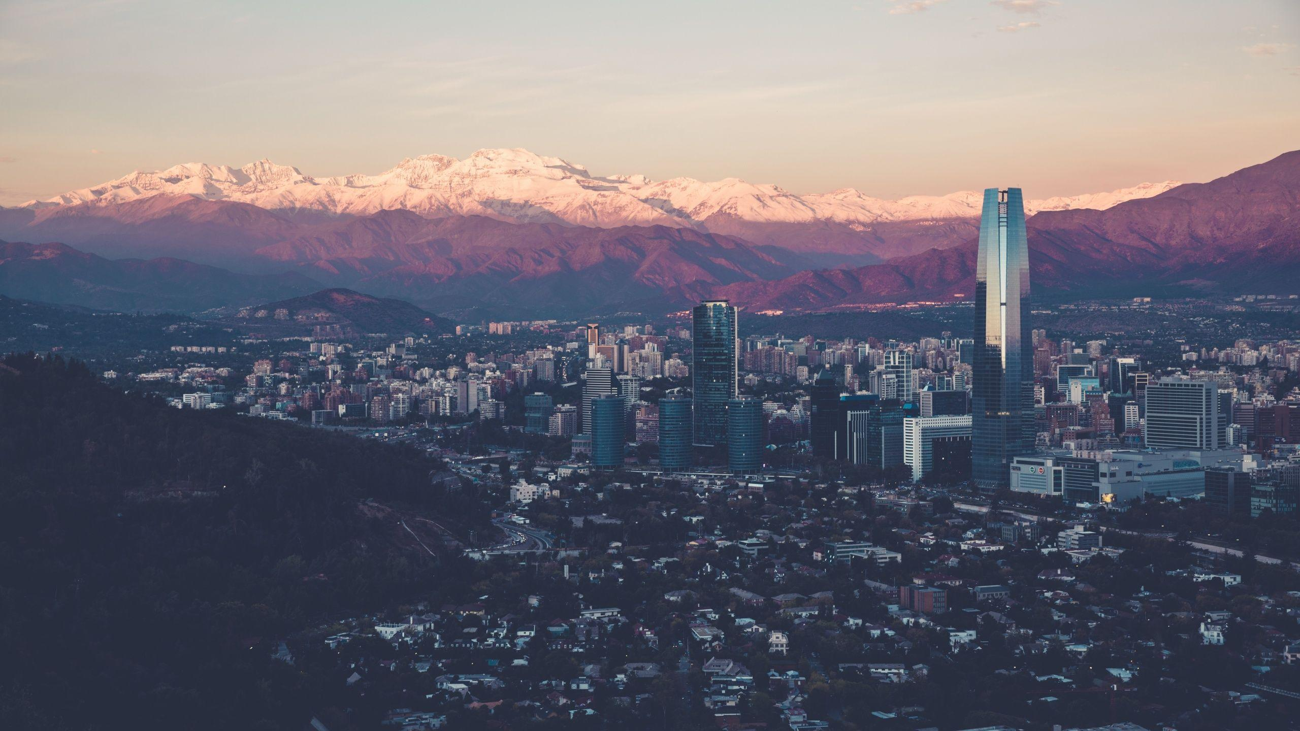 Santiago Cityscape And Mountains Wallpaper | 2560x1440 | ID:56572 ...