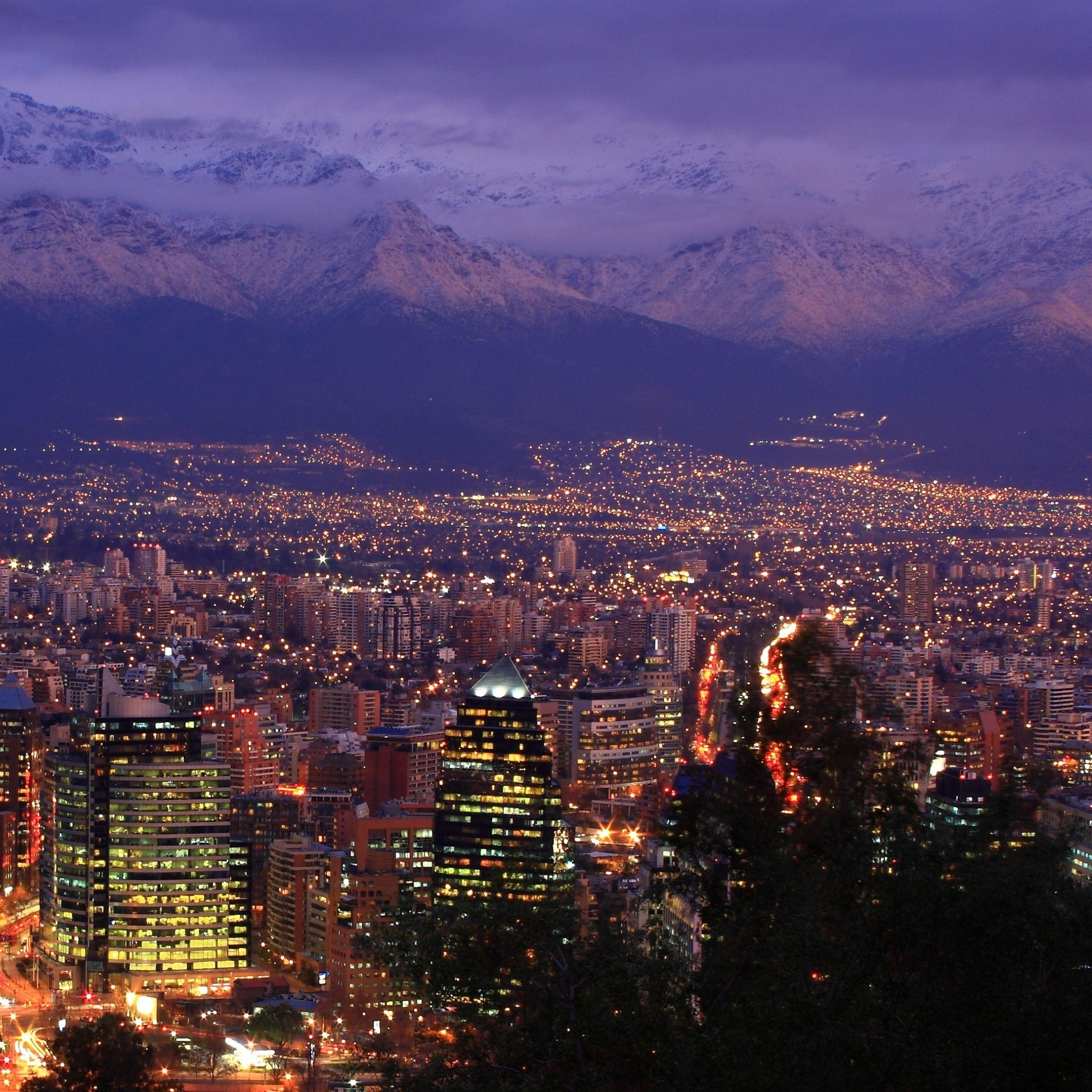 Santiago Chile iPad Air Wallpaper Download | iPhone Wallpapers ...