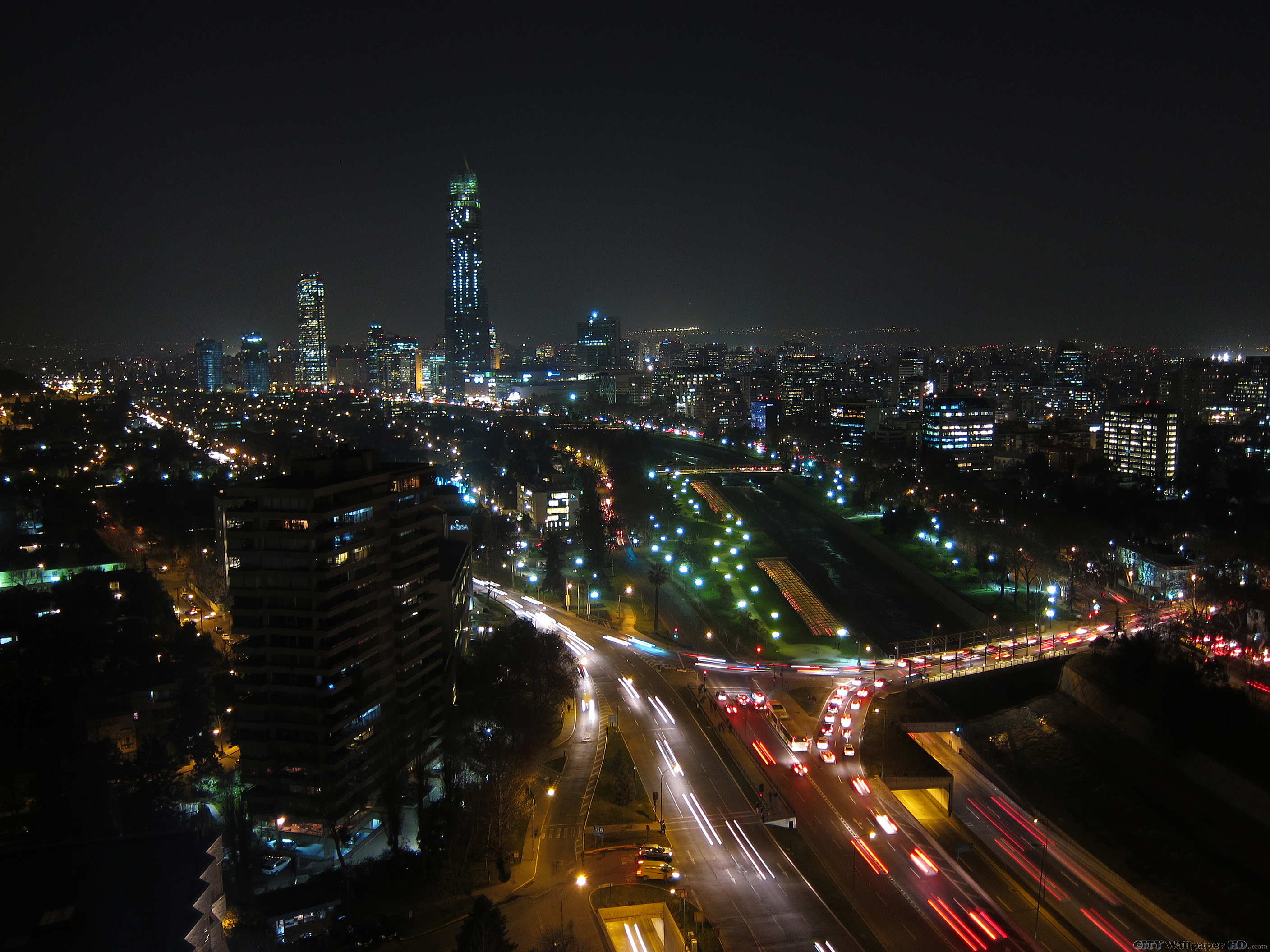 Night of Santiago. Download wallpapers cities. Santiago, santiago ...
