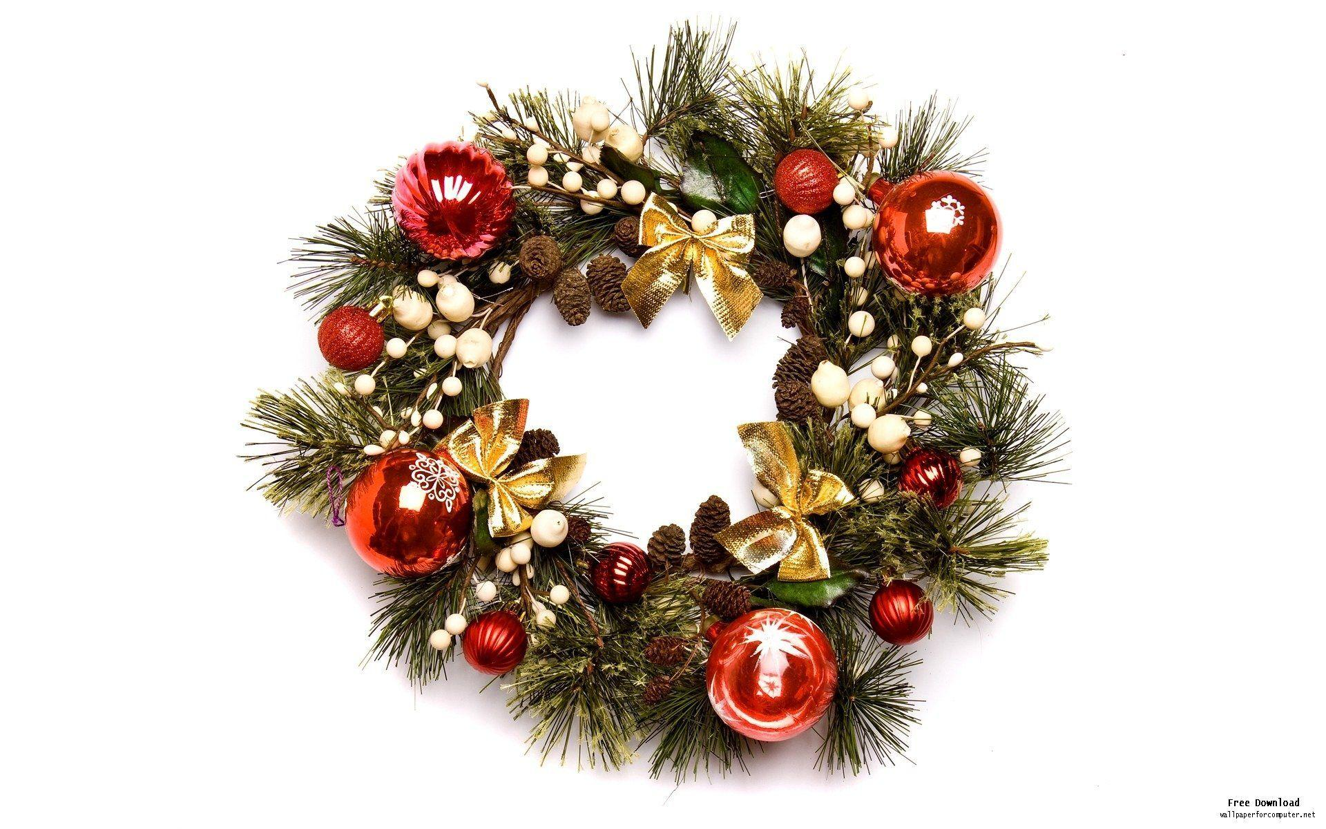 Christmas Wreath Wallpapers - Wallpaper Cave