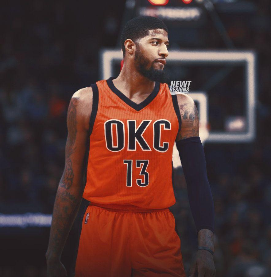 Paul George Jersey Swap - Oklahoma City Thunder by NewtDesigns on .