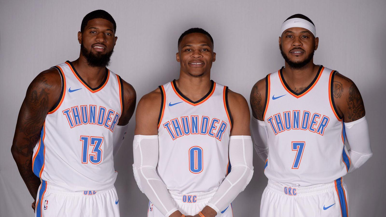 Carmelo, Westbrook, Paul George now have their own OKC Snapchat ...