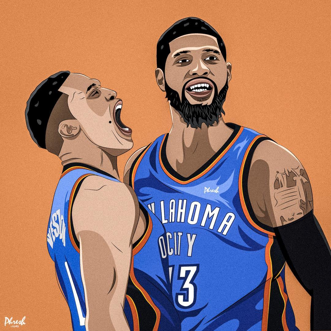 Paul George & Russell Westbrook OKC Oklahoma City Thunder | Lil .
