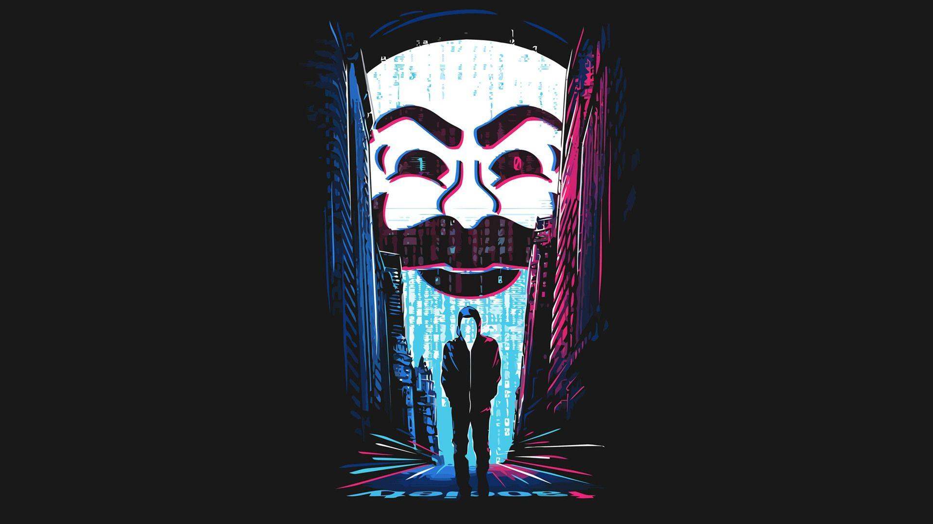 Hacker Mask Wallpapers Wallpaper Cave