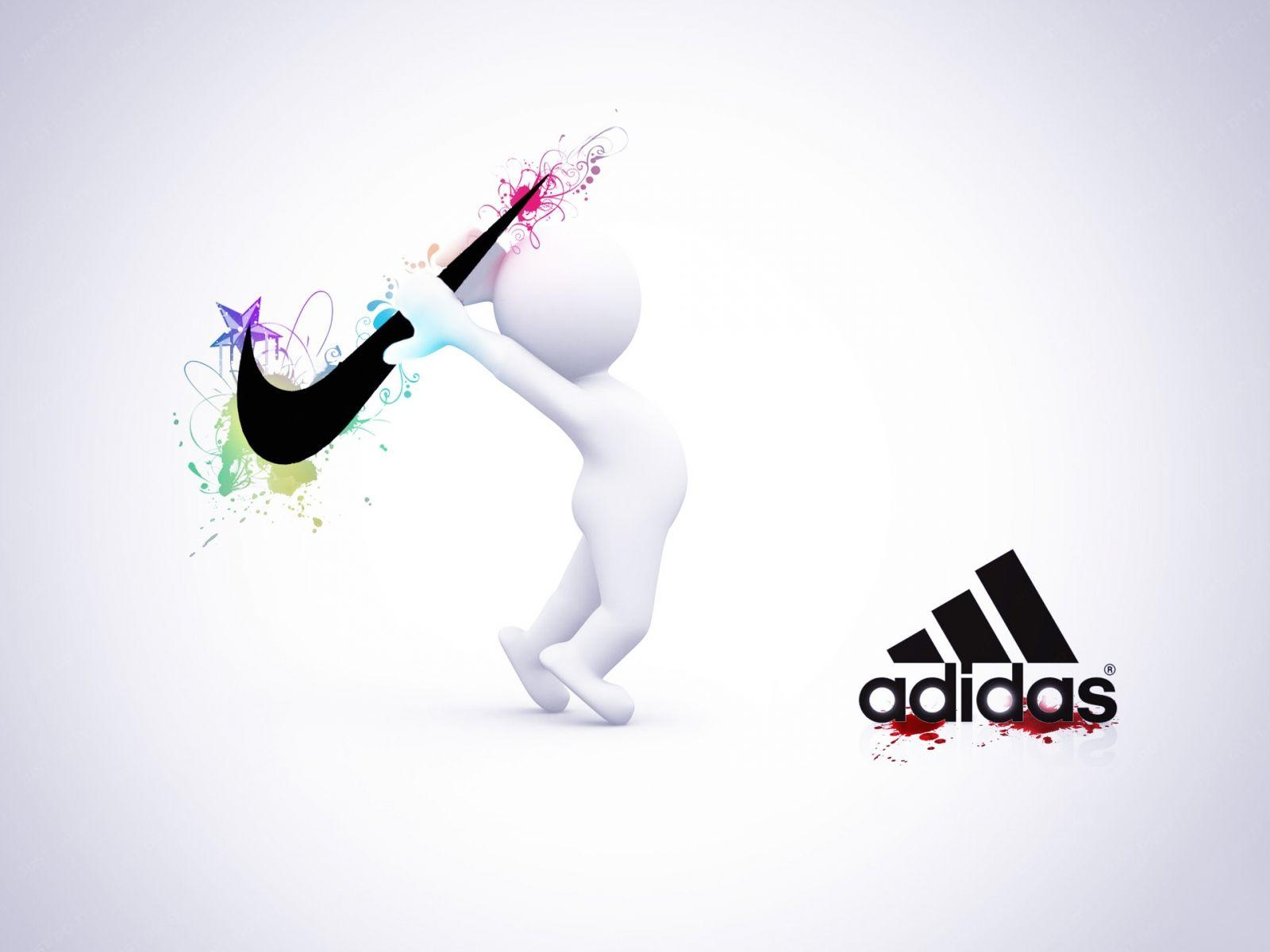watch c7976 2ab84 Wallpaper Nike Vs Adidas For 1600 X 1200 HD Wide Background .
