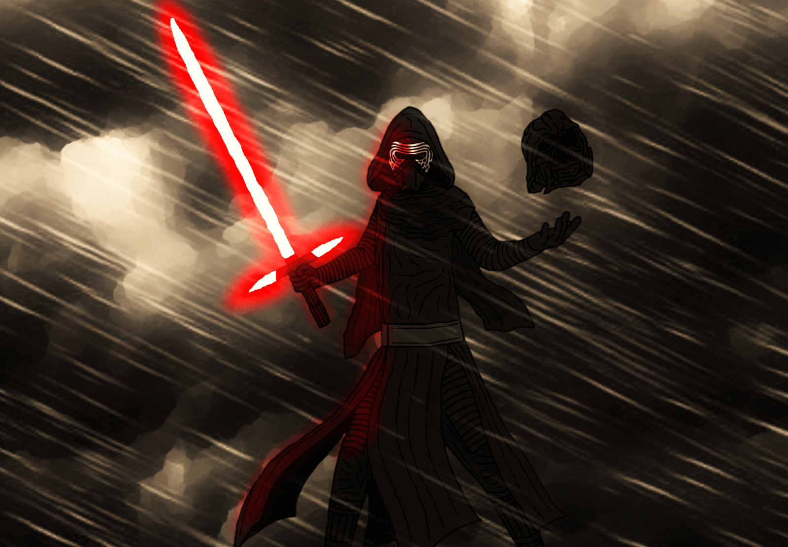 Kylo Ren Comic Art Wallpaper. by Jones6192