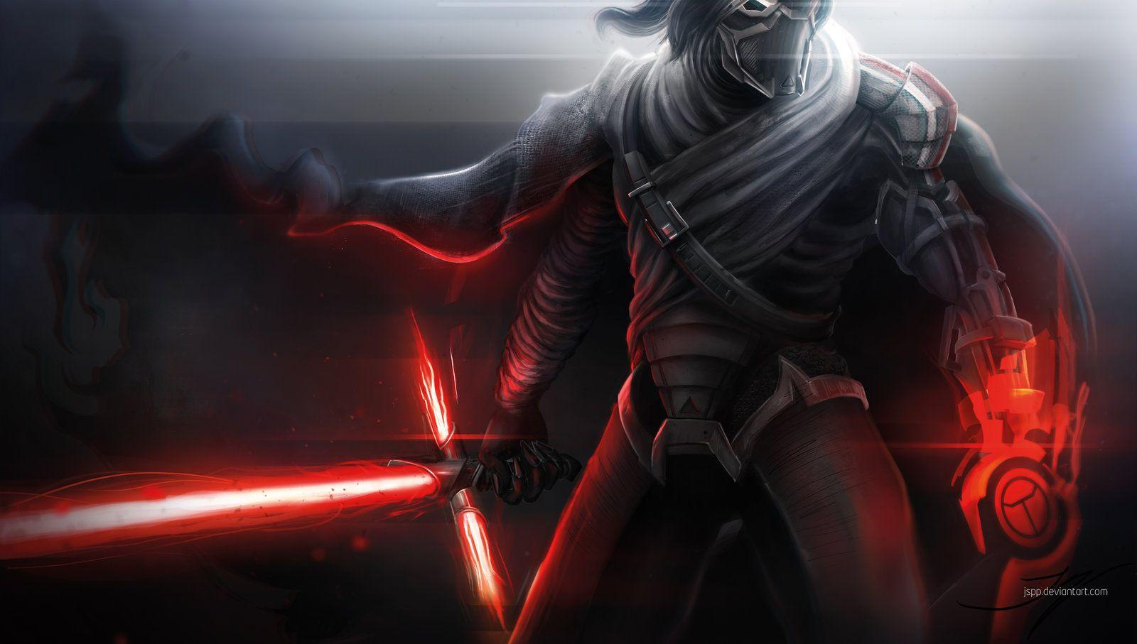 Kylo Ren with a hint of Mass Effect //Wallpapers by jspp
