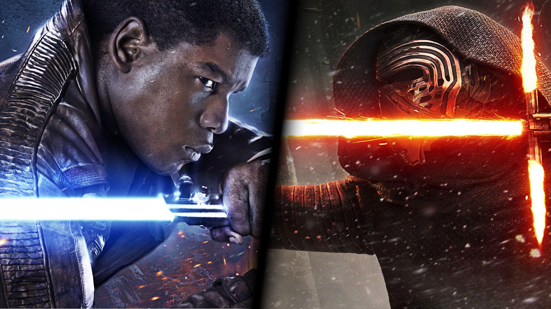 Finn vs Kylo Ren in Star Wars: The Force Awakens wallpapers
