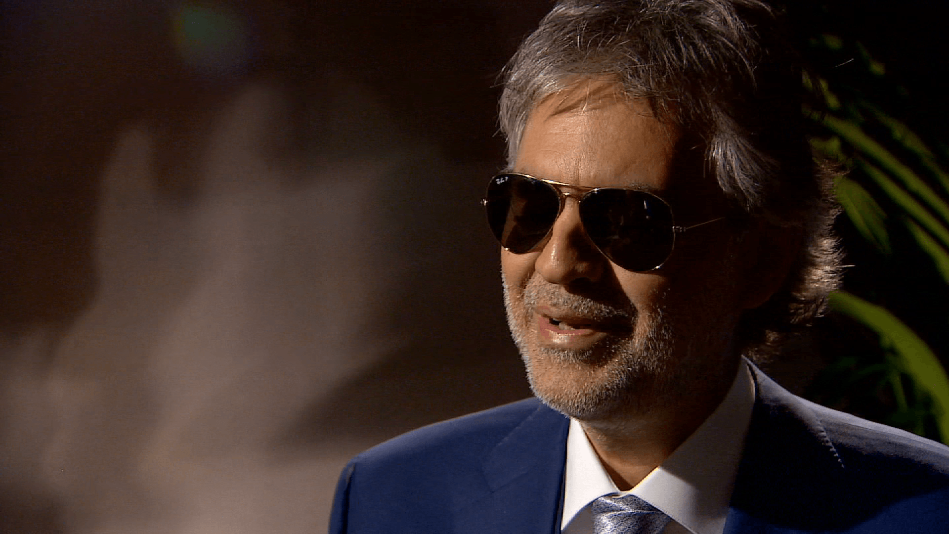 Andrea Bocelli shares voice, views in Davos
