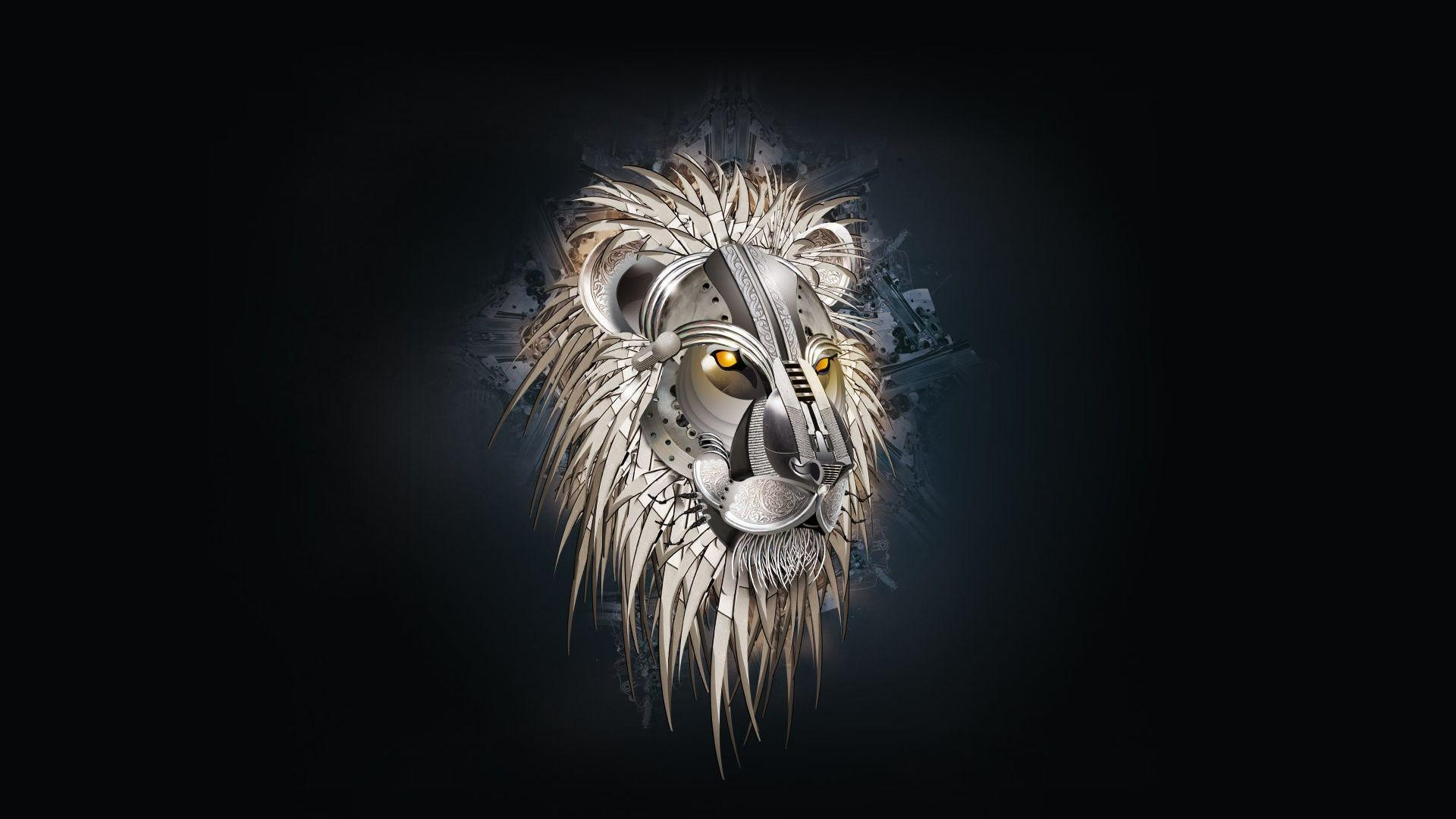 hd wallpapers creative lion