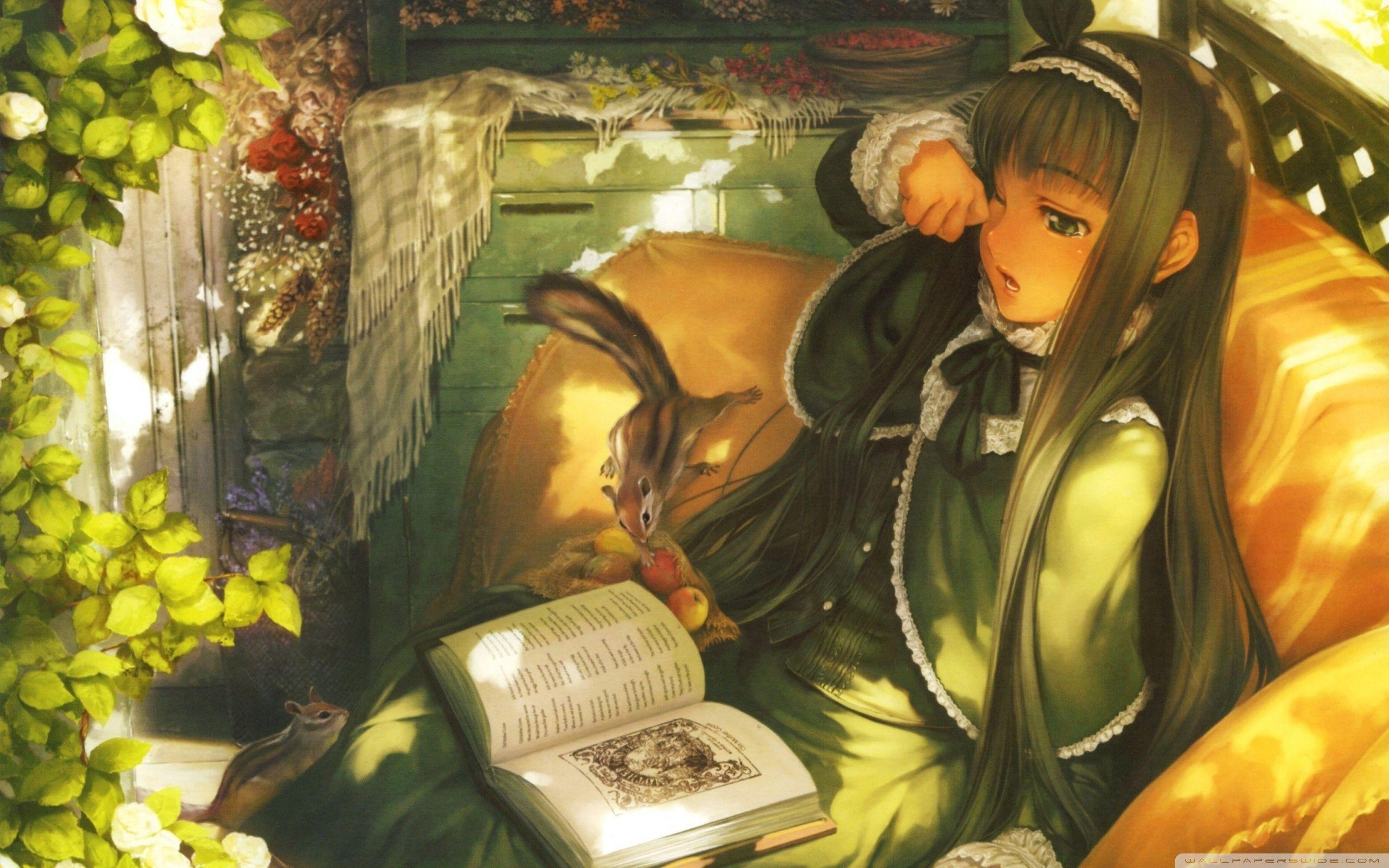 Girls Reading Books Wallpapers Wallpaper Cave