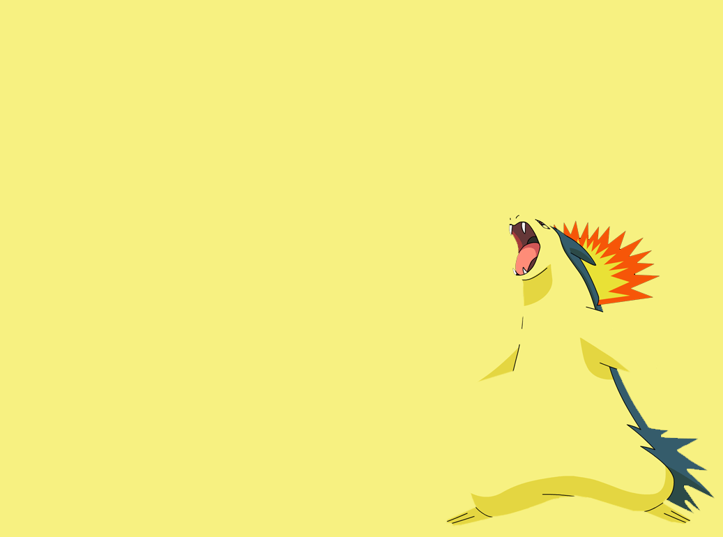 Typhlosion Wallpaper 01 - Minimalism by Ymeisnot on DeviantArt