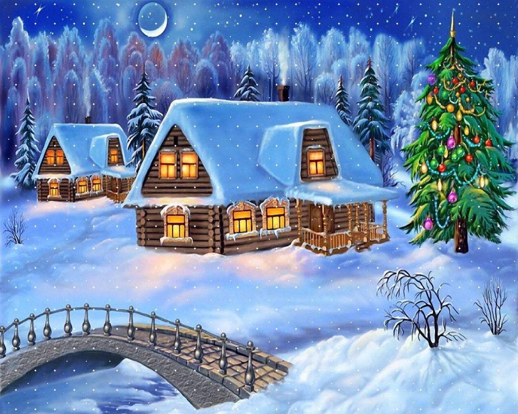 christmas scenes pictures | home christmas wallpapers - Christmas .