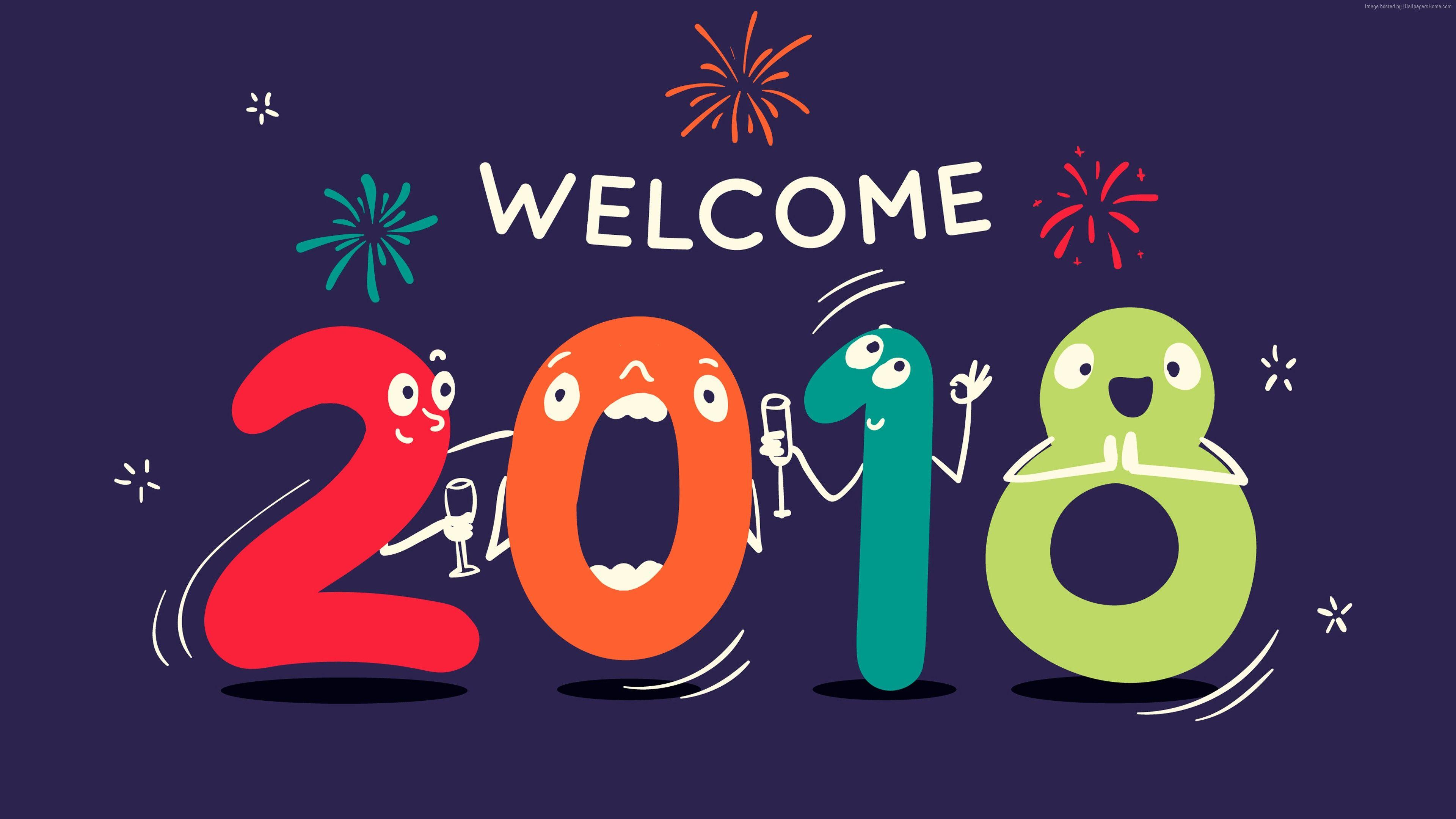 welcome 2018 wallpapers wallpaper cave