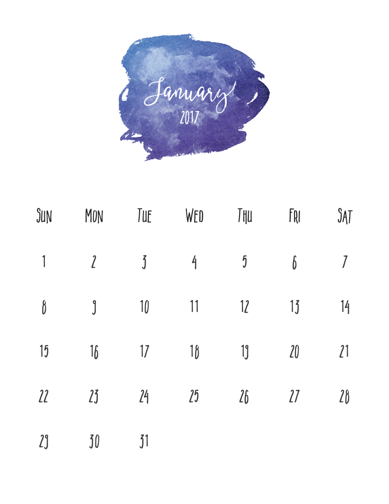 Free Printable Calendar - The January scripture is
