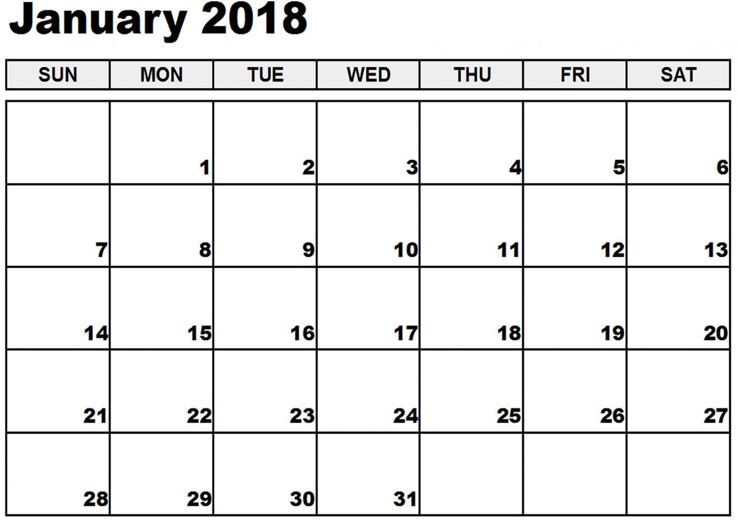 January Template 2018 Calendar – Latest HD Pictures, Images and ...