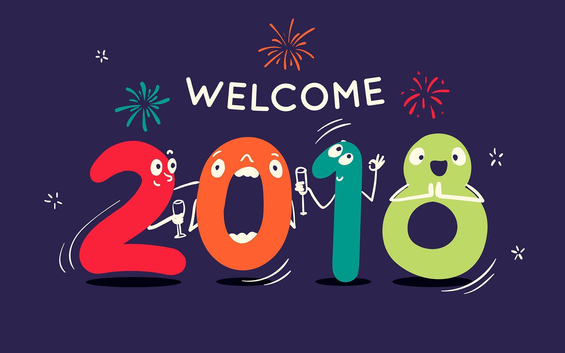premium 2018 happy new year wallpapers