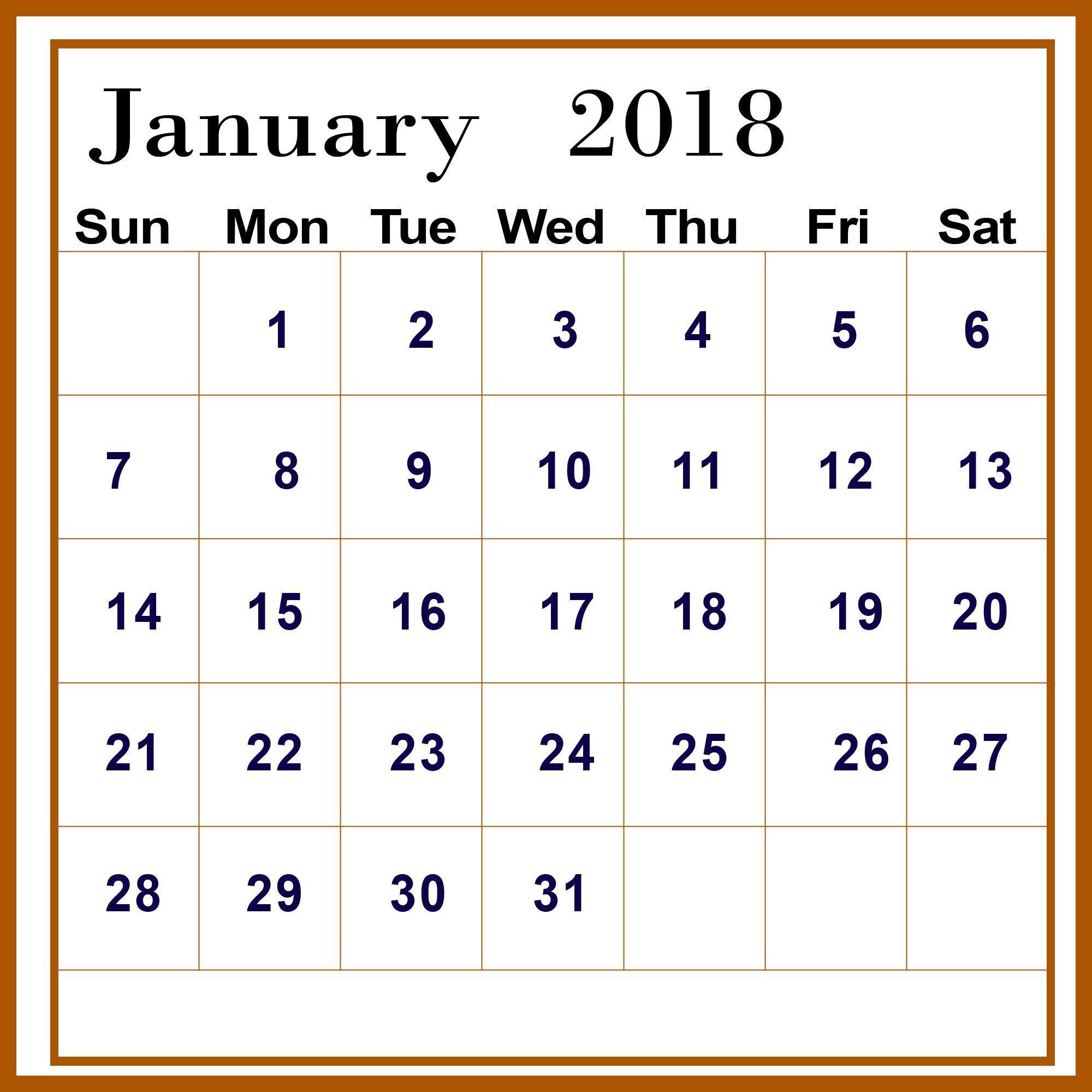 Desktop Wallpaper January 2014: January 2018 Calendar Wallpapers