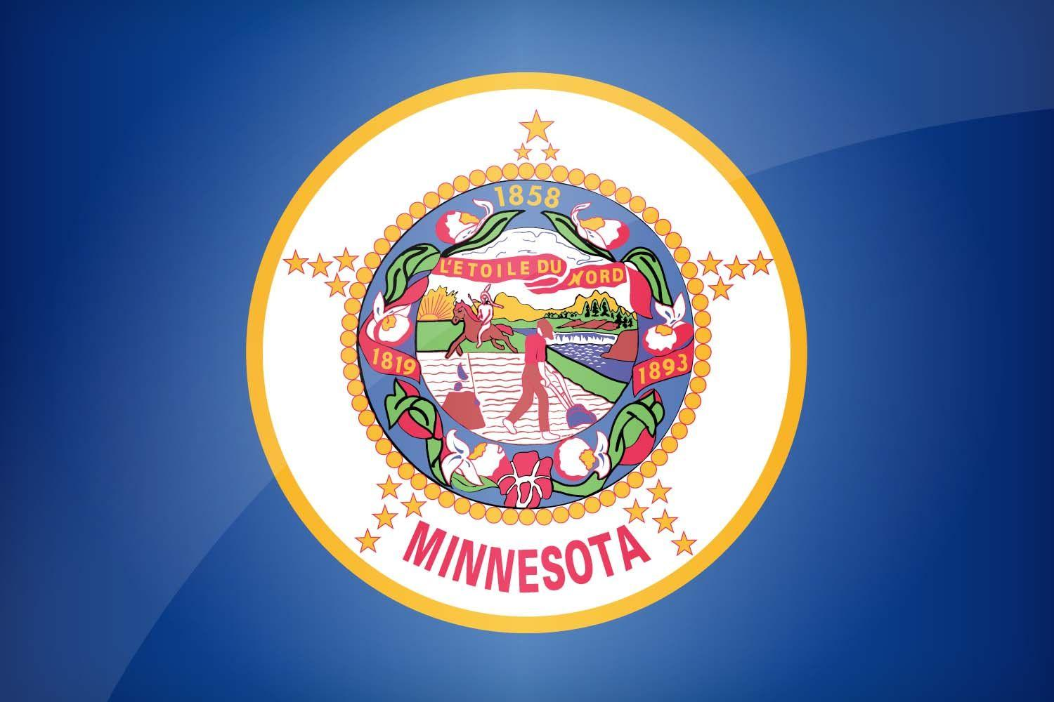 Minnesotan Flag Metal