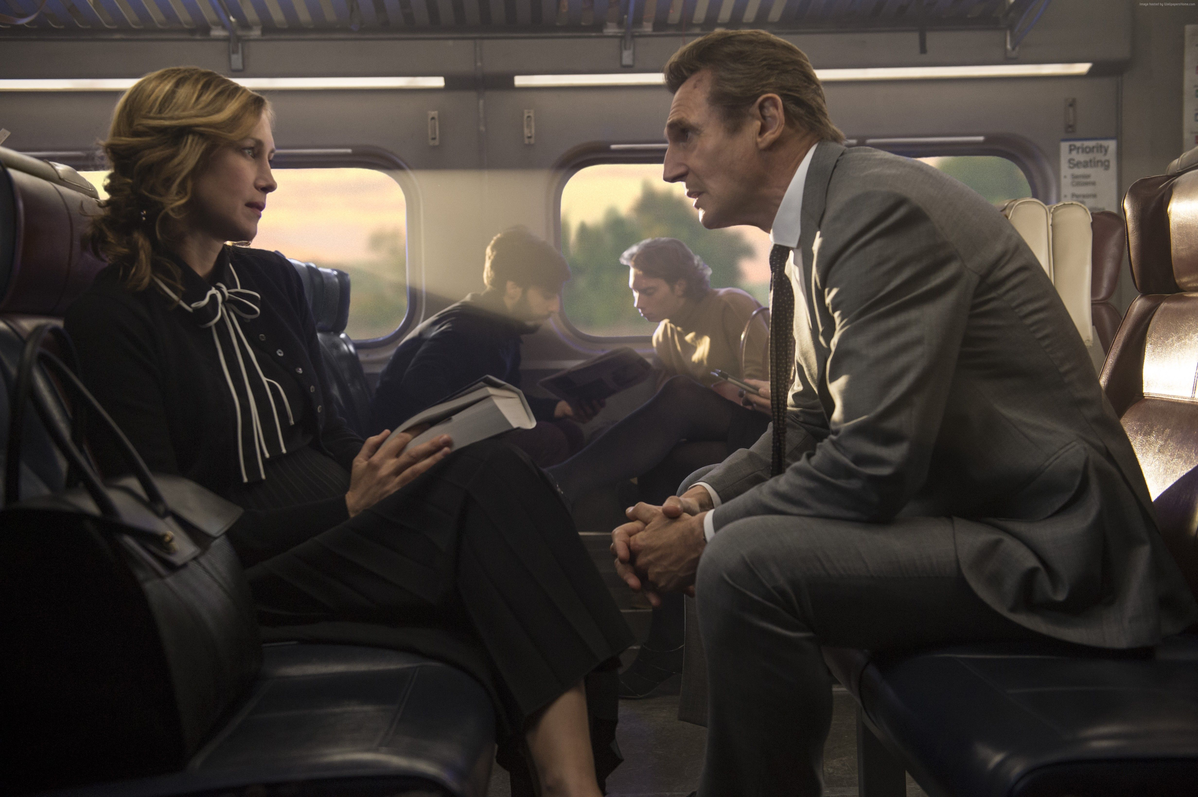 Wallpaper The Commuter, Vera Farmiga, Liam Neeson, 4k, Movies #16270