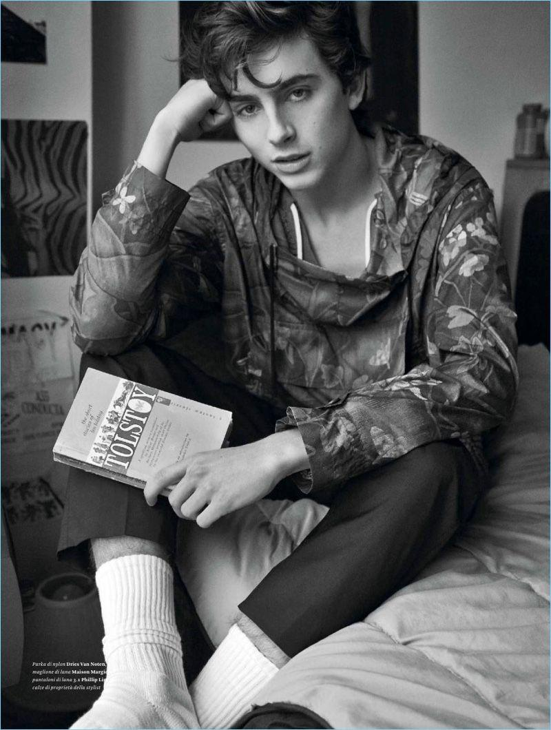 Timothée Chalamet Connects with L'Officiel Hommes Italia | Young ...