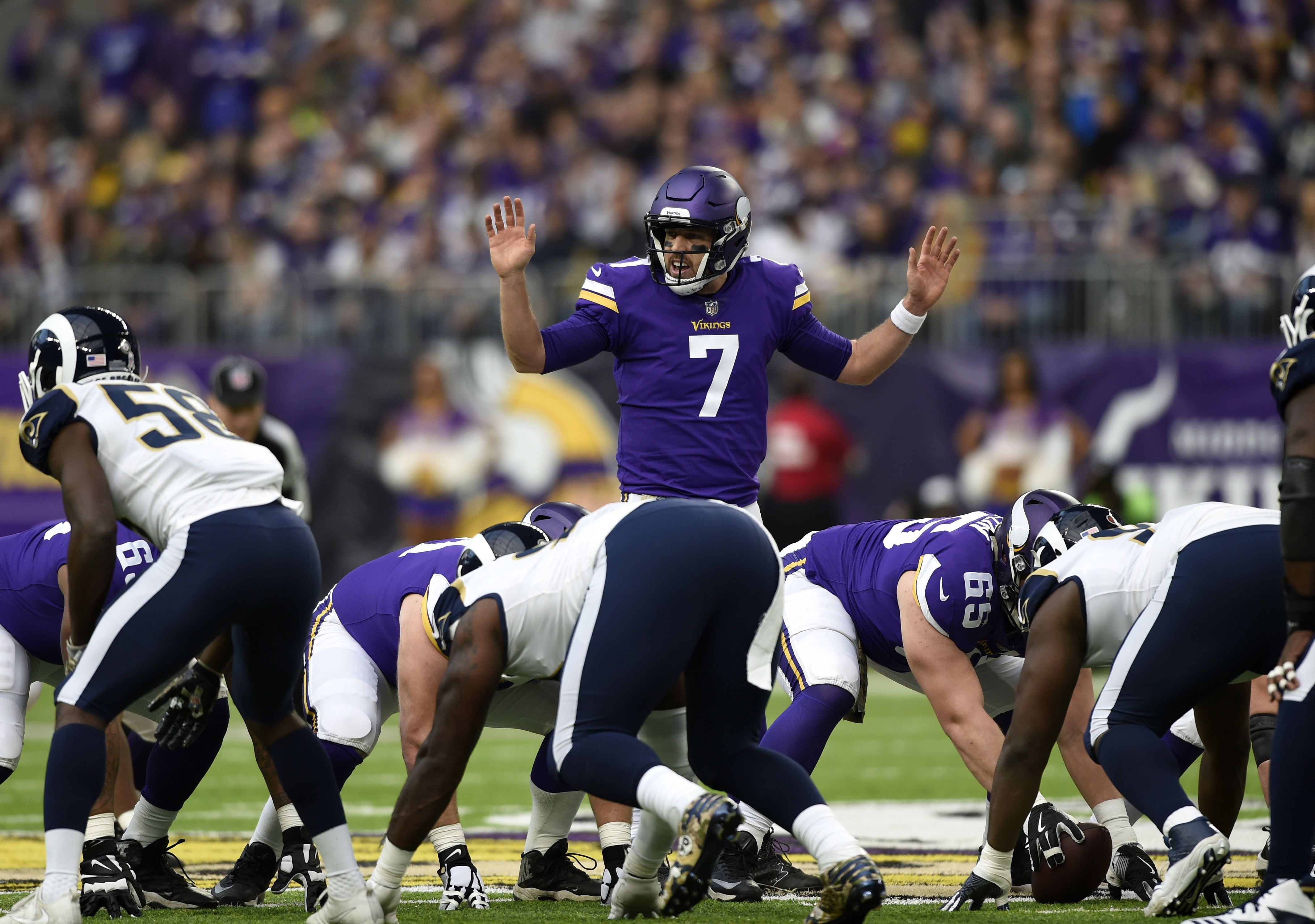 Keenum named one of the NFL's top players for November performance