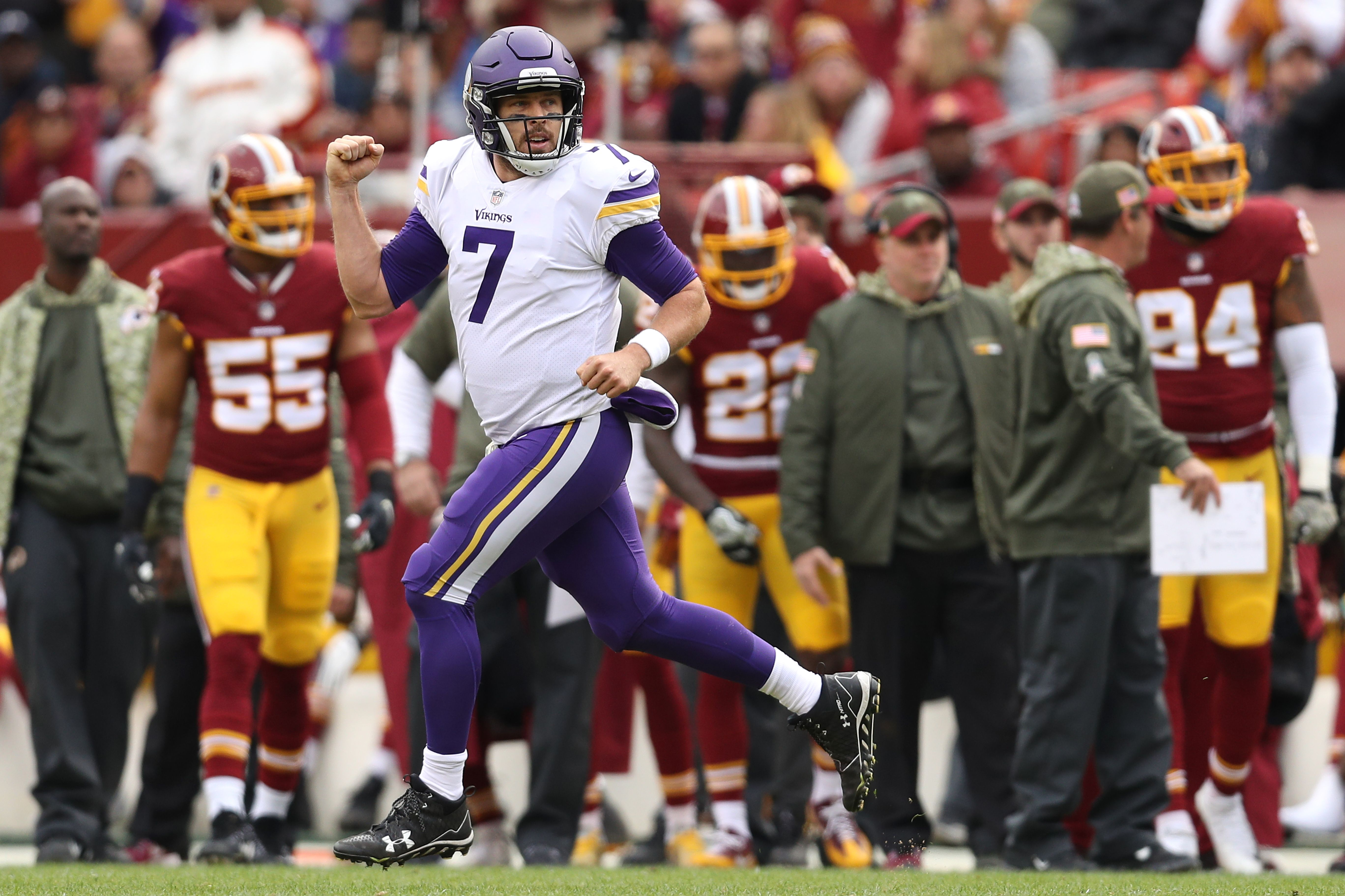 Vikings playing it safe by starting Case Keenum in Week 11 vs. Rams