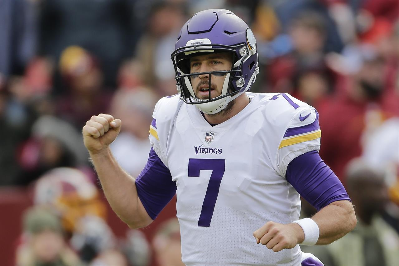 Keenum, Vikings keep rolling by beating Redskins 38-30 | The ...