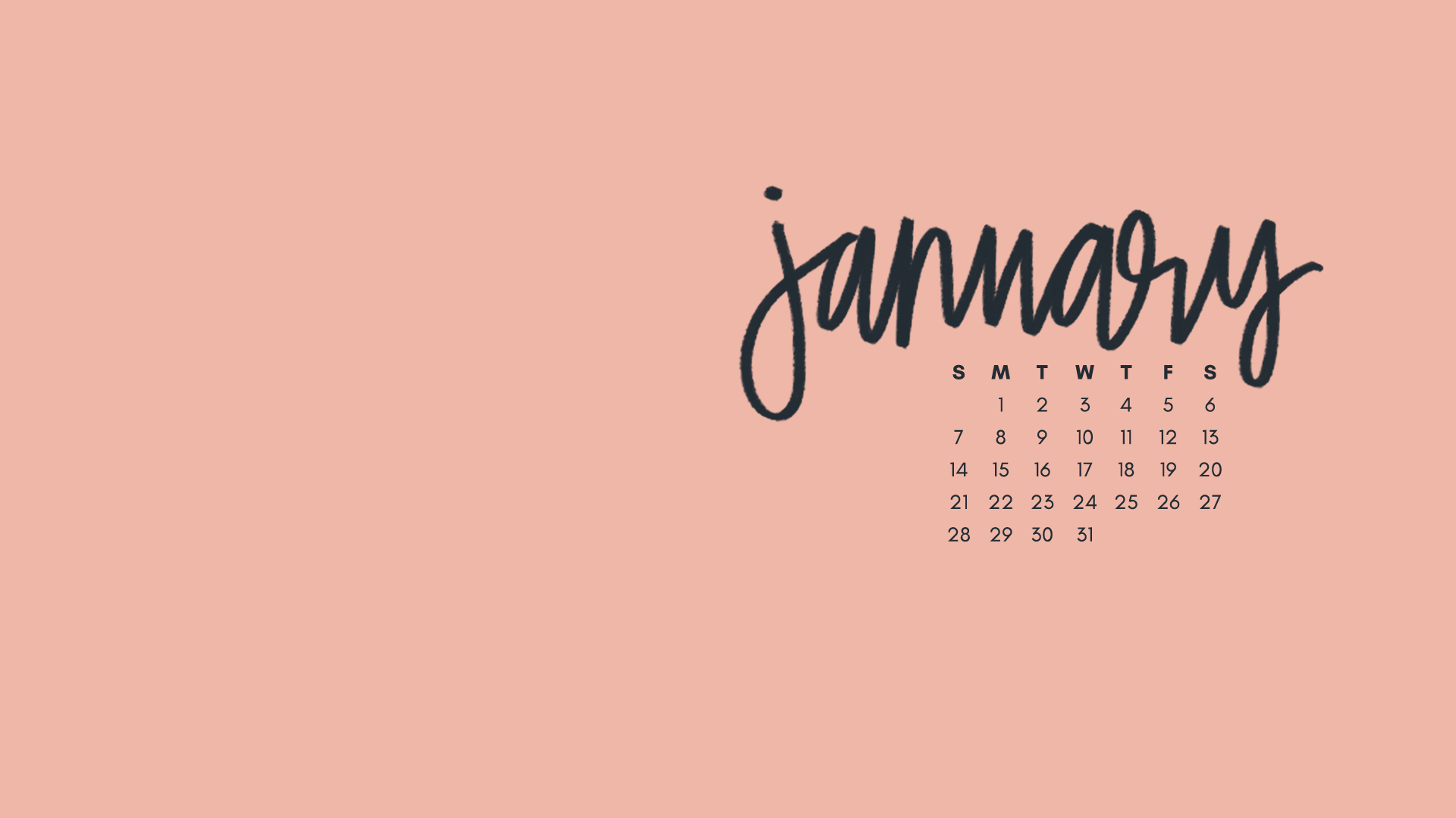 January 2018 Wallpapers & Folder Icons - Whatever Bright Things