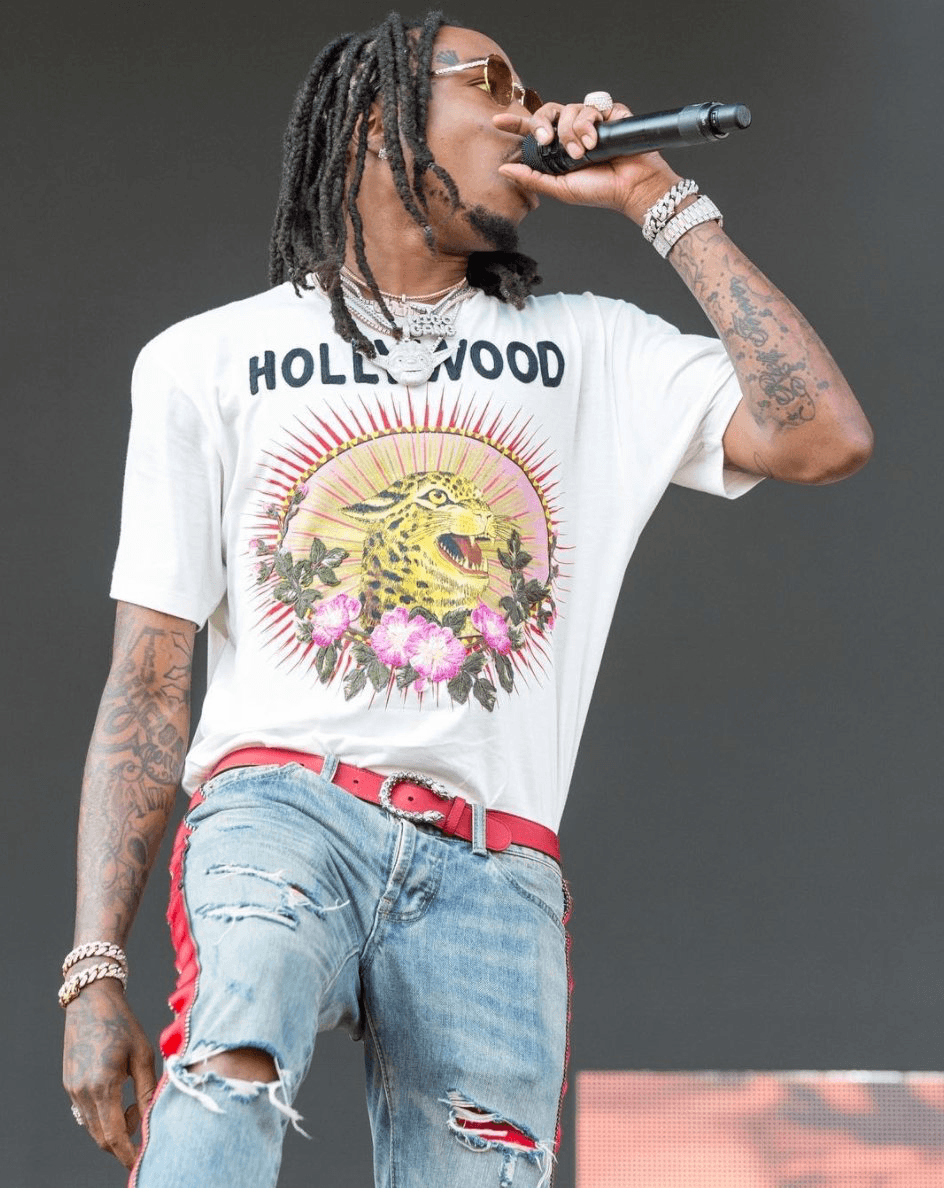 SPOTTED: Migos' Quavo Performing In Womens Gucci T-Shirt buff.ly ...
