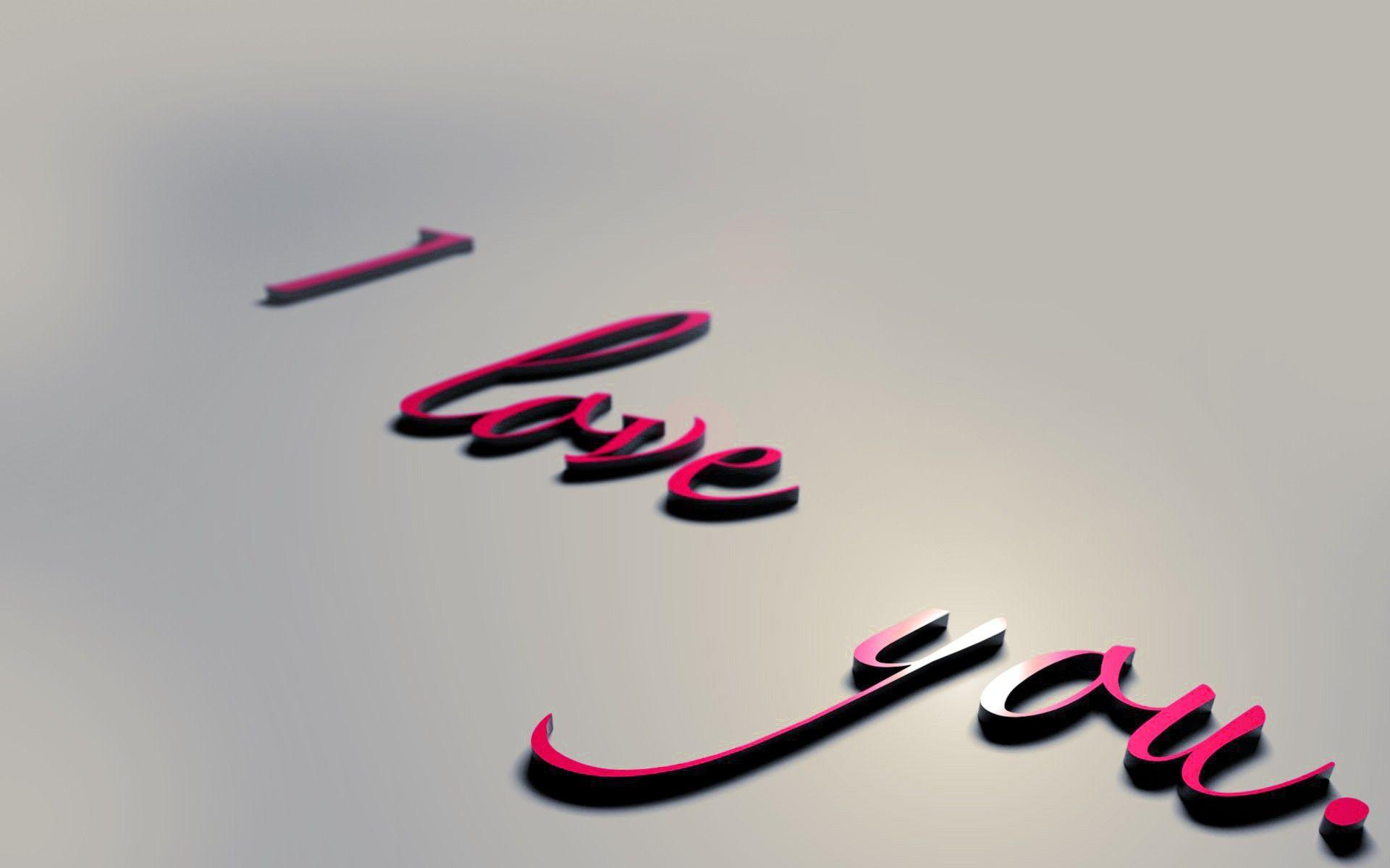 I Love You 3D Text Letters HD Wallpapers