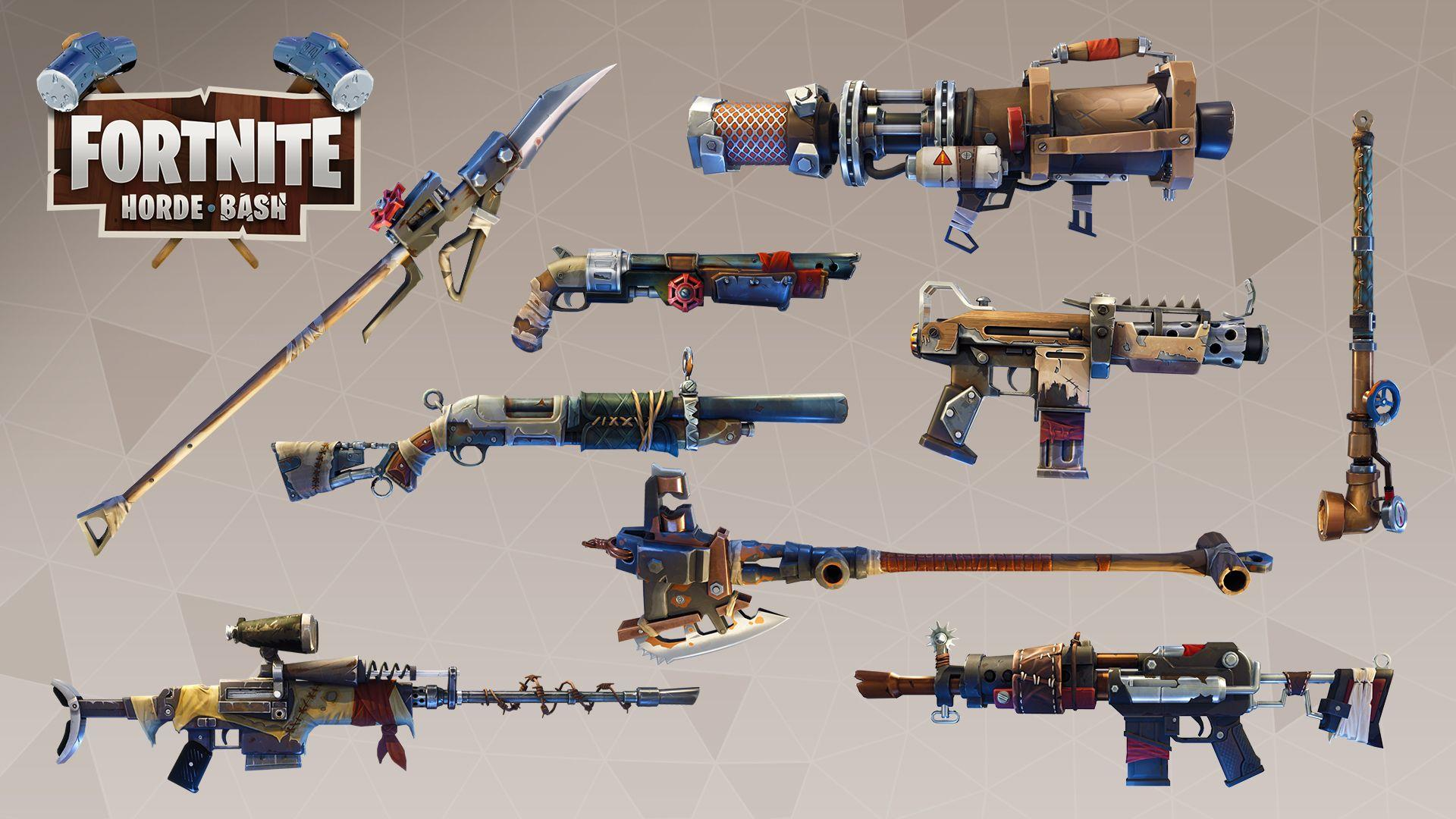 Cosmetics Idea: Weapon and Material Skins from PVE : FortNiteBR