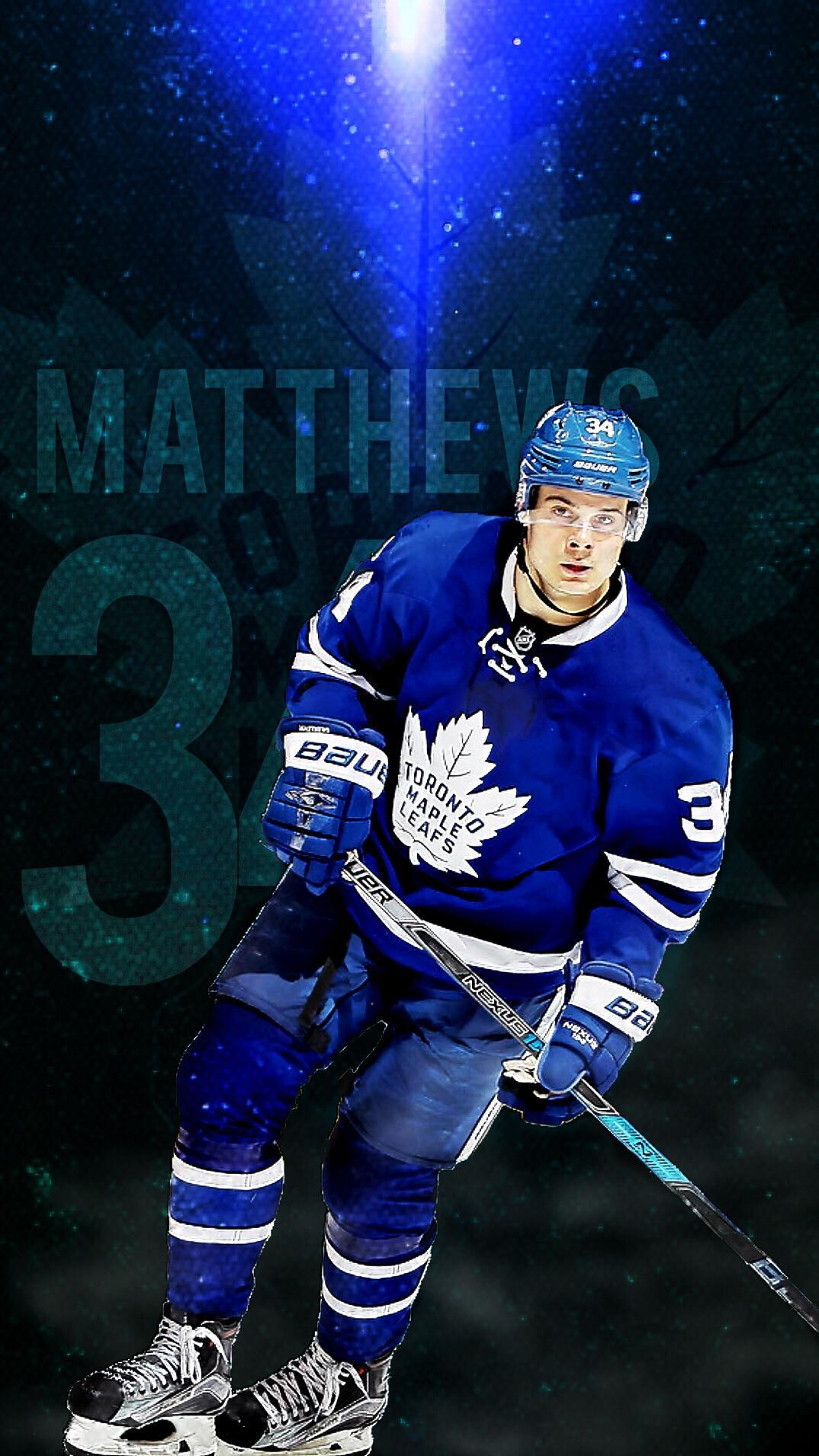 Made a Matthews iOS wallpaper! : leafs