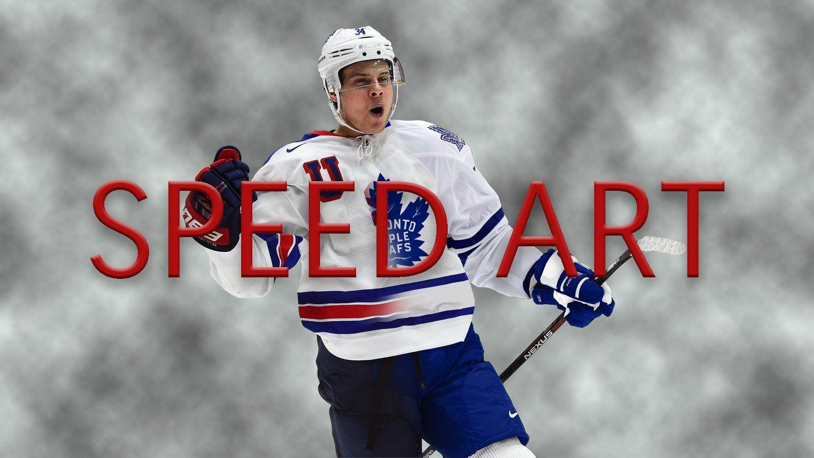 Auston Matthews Jersey Swap Speed Art