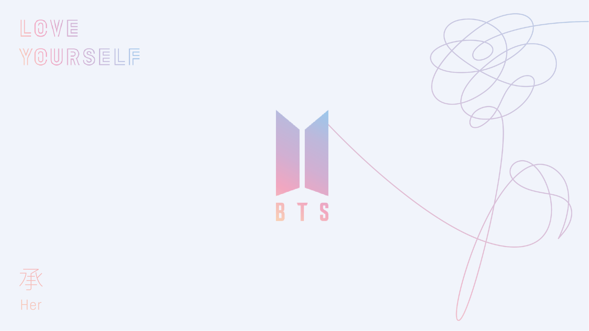 Wallpaper Love Yourself : BTS Logo Wallpapers - Wallpaper cave