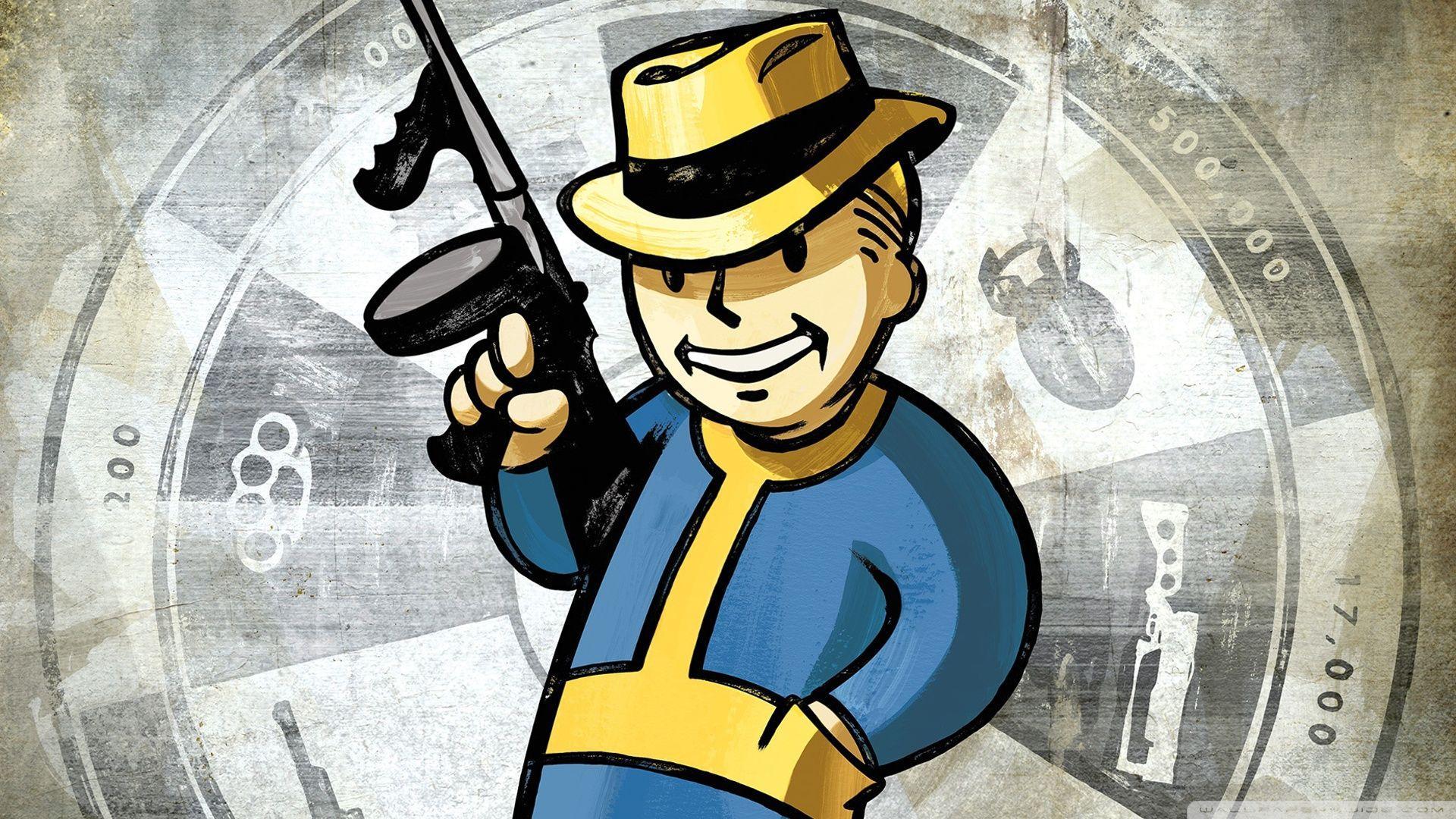 Fallout New Vegas Wallpapers Vault Boy Wallpaper Cave