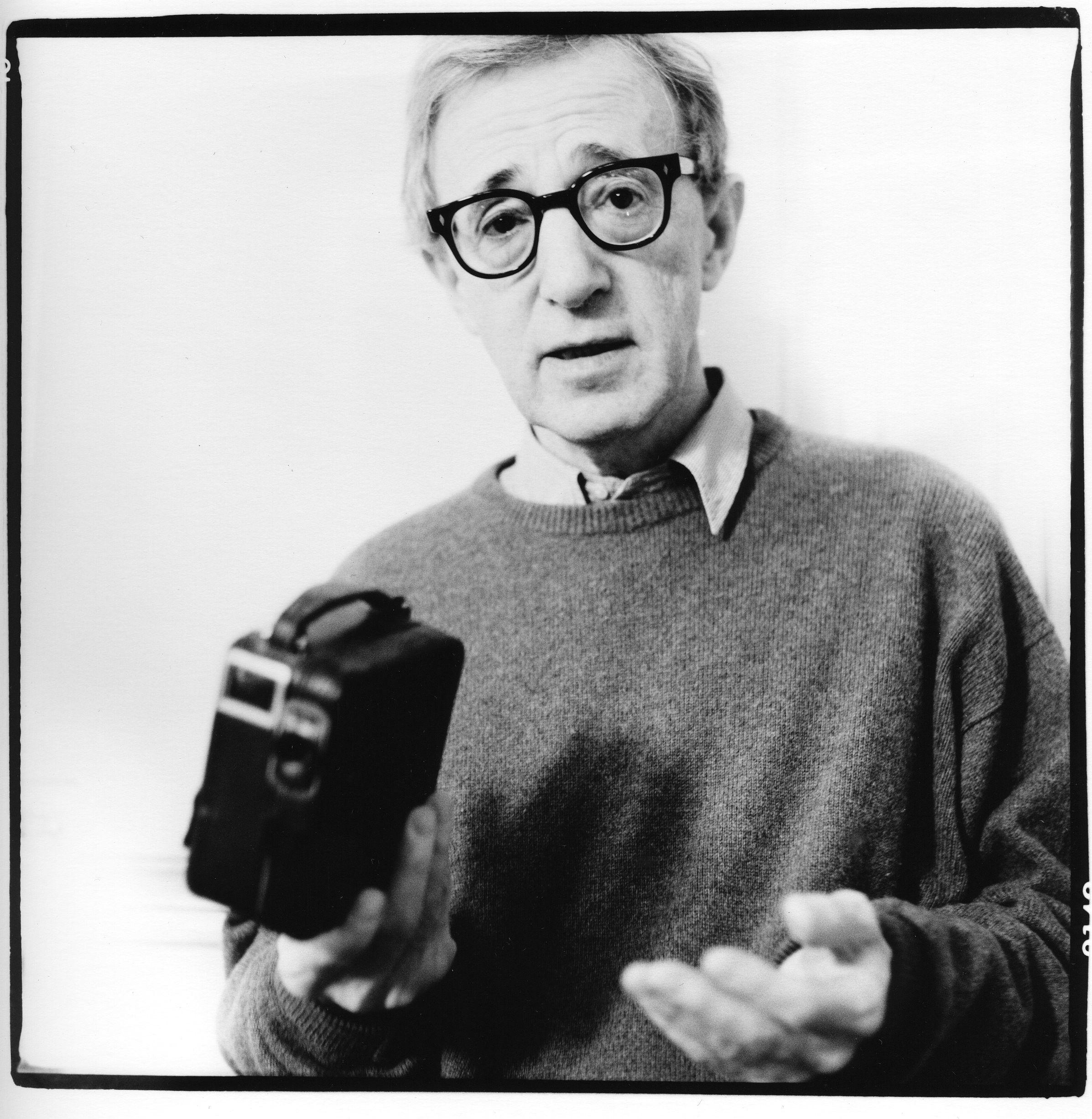 men, Film Directors, Actor, Woody Allen, Monochrome, Glasses ...