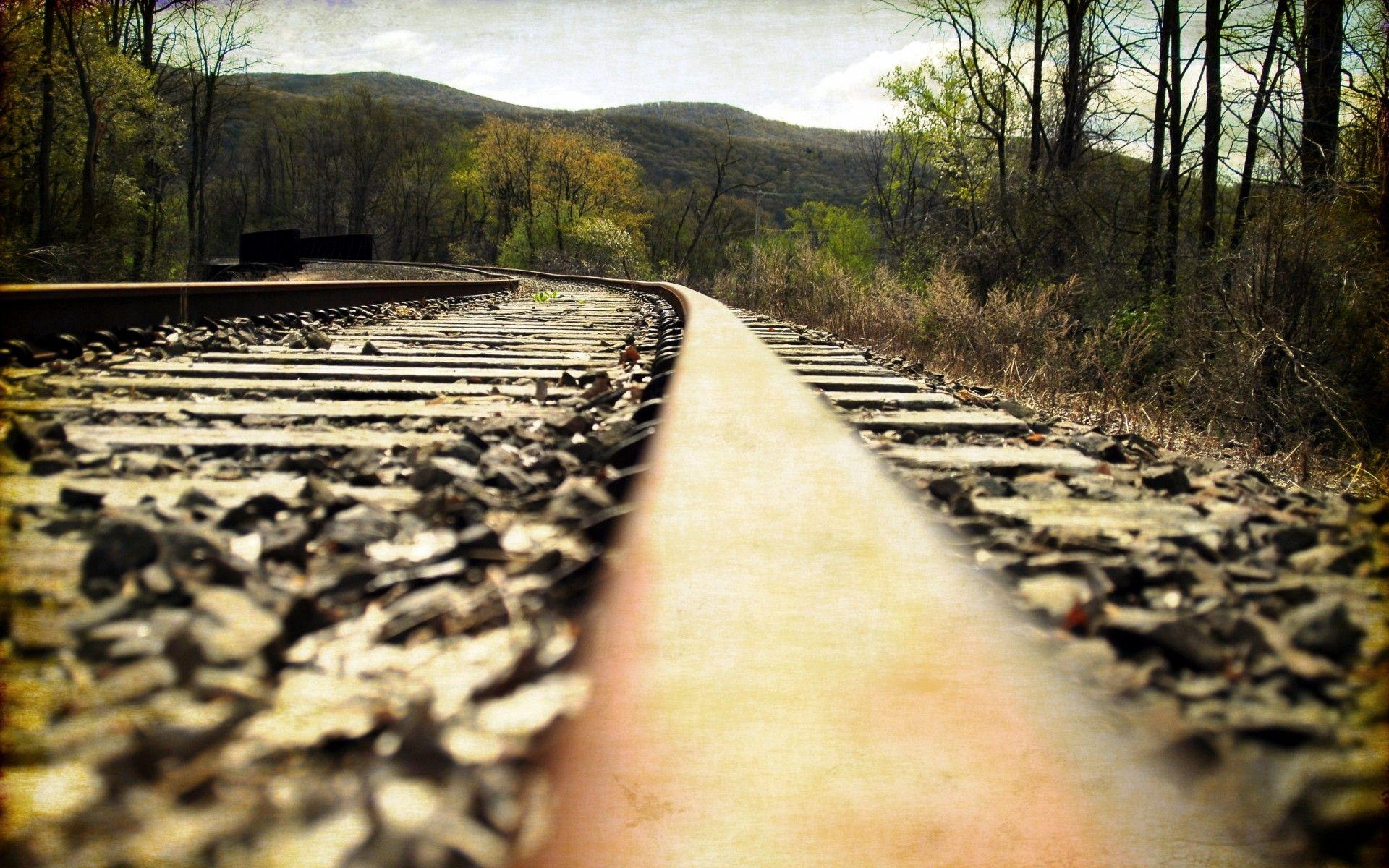 Railway landscape train tracks wallpapers