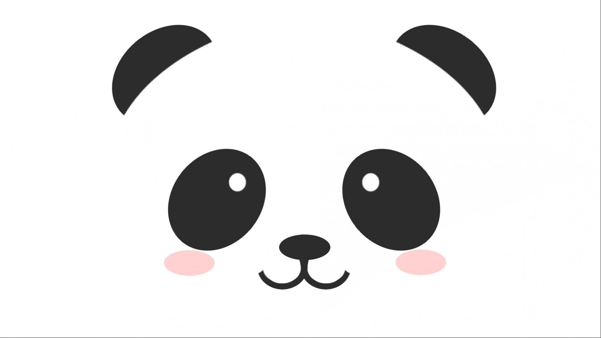 cute stuff wallpapers simple face panda