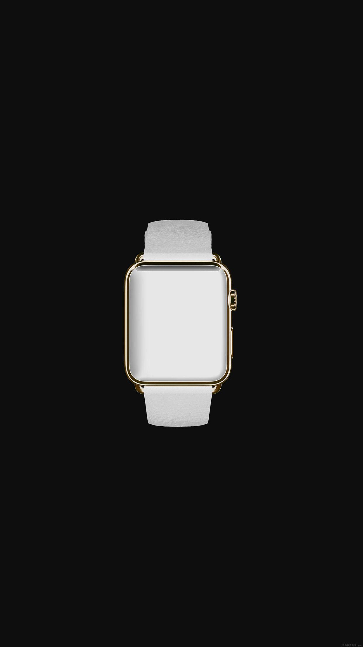 White Dark Apple Watch Simple Art Android wallpapers