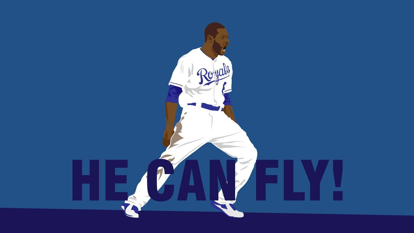 He can fly! I made a Lorenzo Cain wallpaper! : KCRoyals